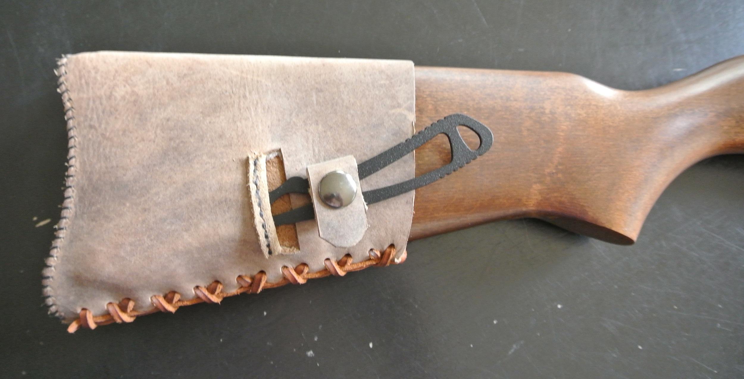 Circle M-Brand buttstock cuff - knife holstered.JPG