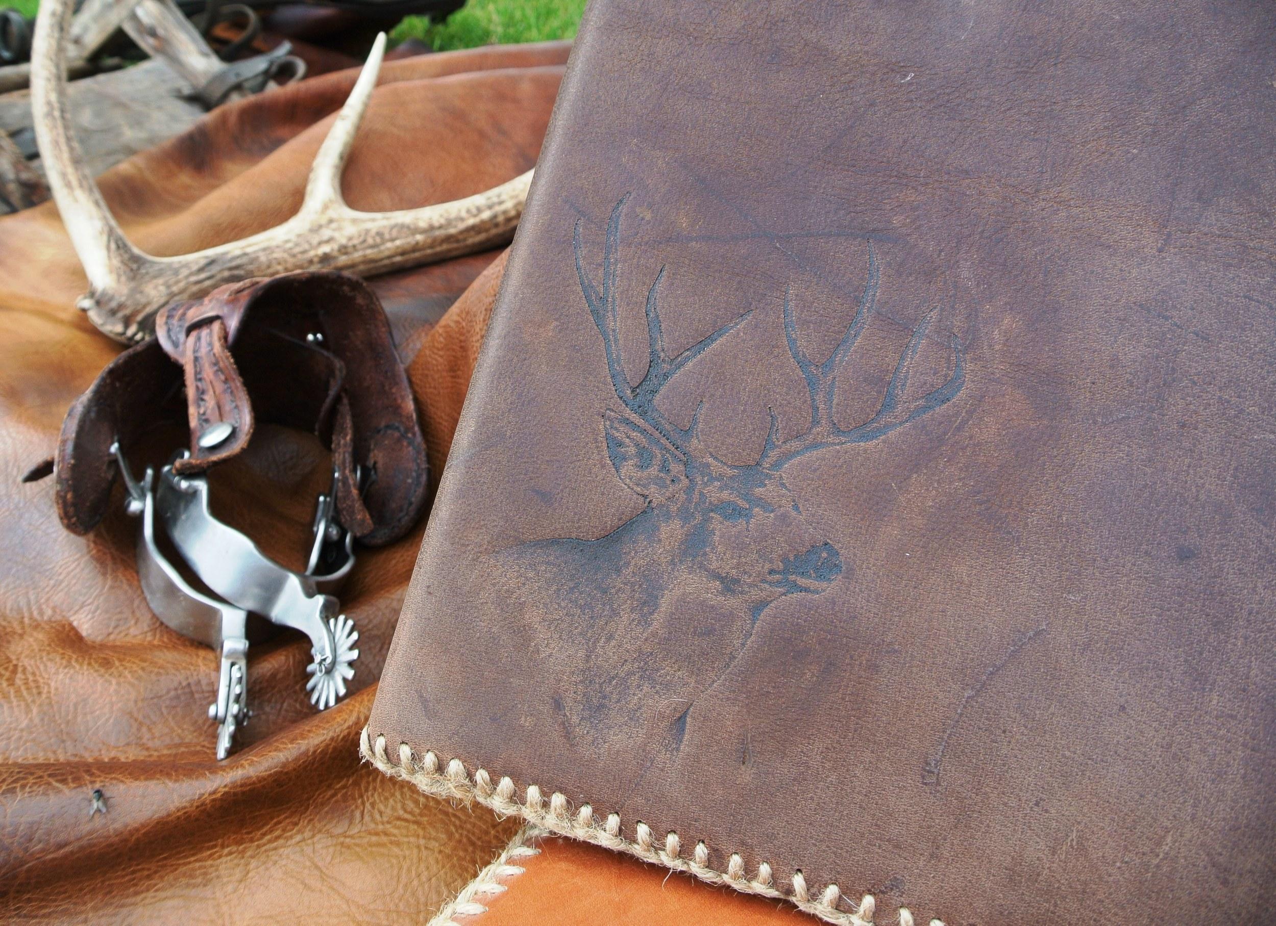 Circle M-Brand heat engraving Buck.JPG