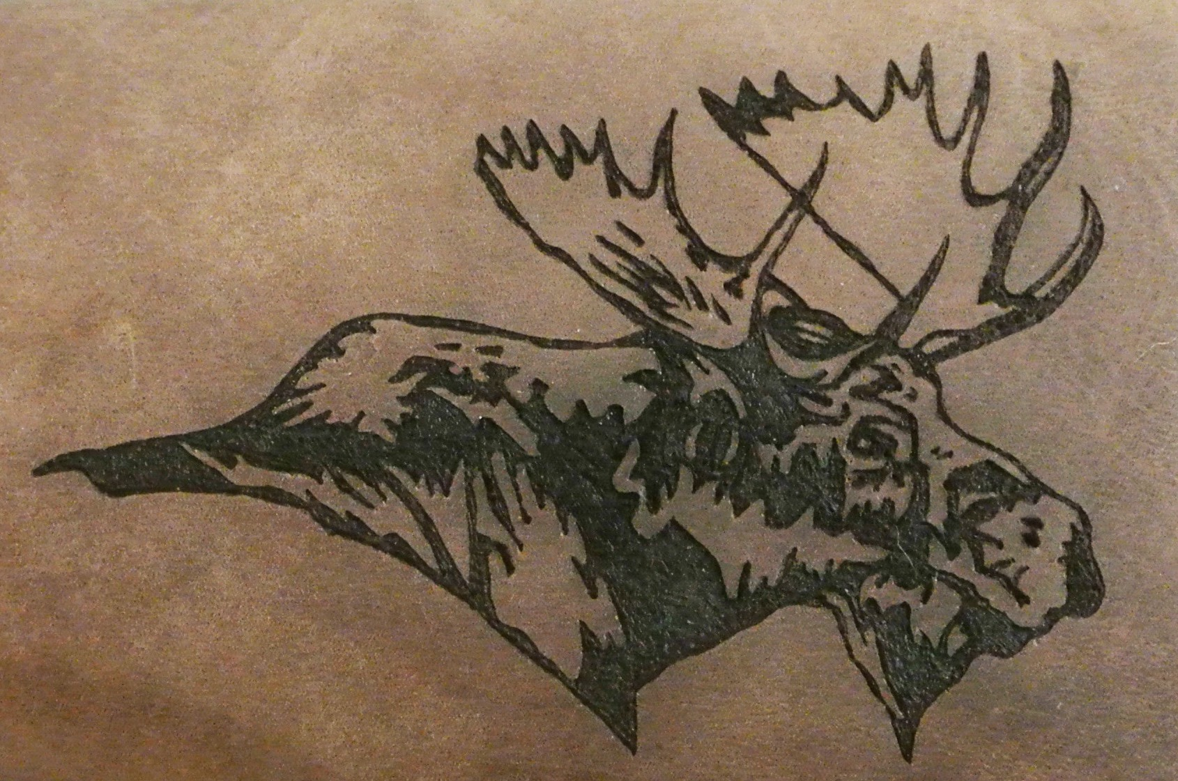 Circle M-Brand heat engraving Moose right.JPG