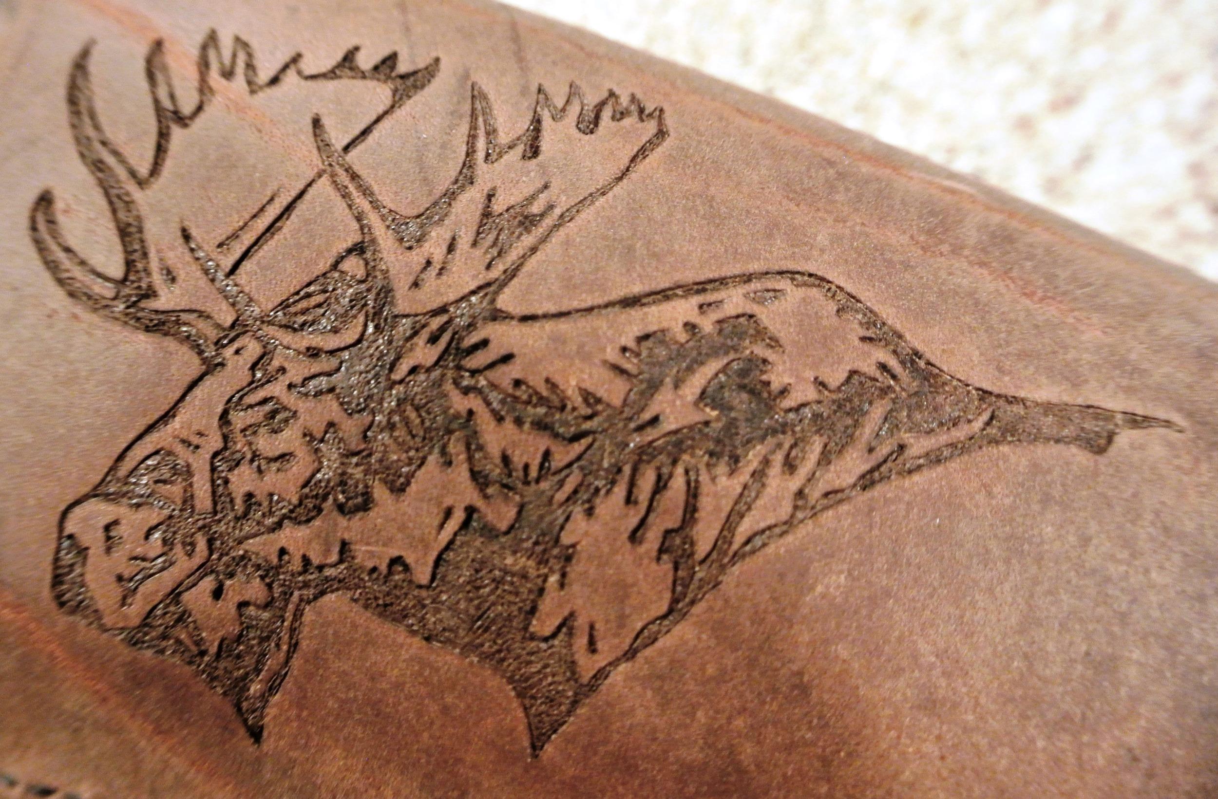 Circle M-Brand heat engraving Moose left.JPG