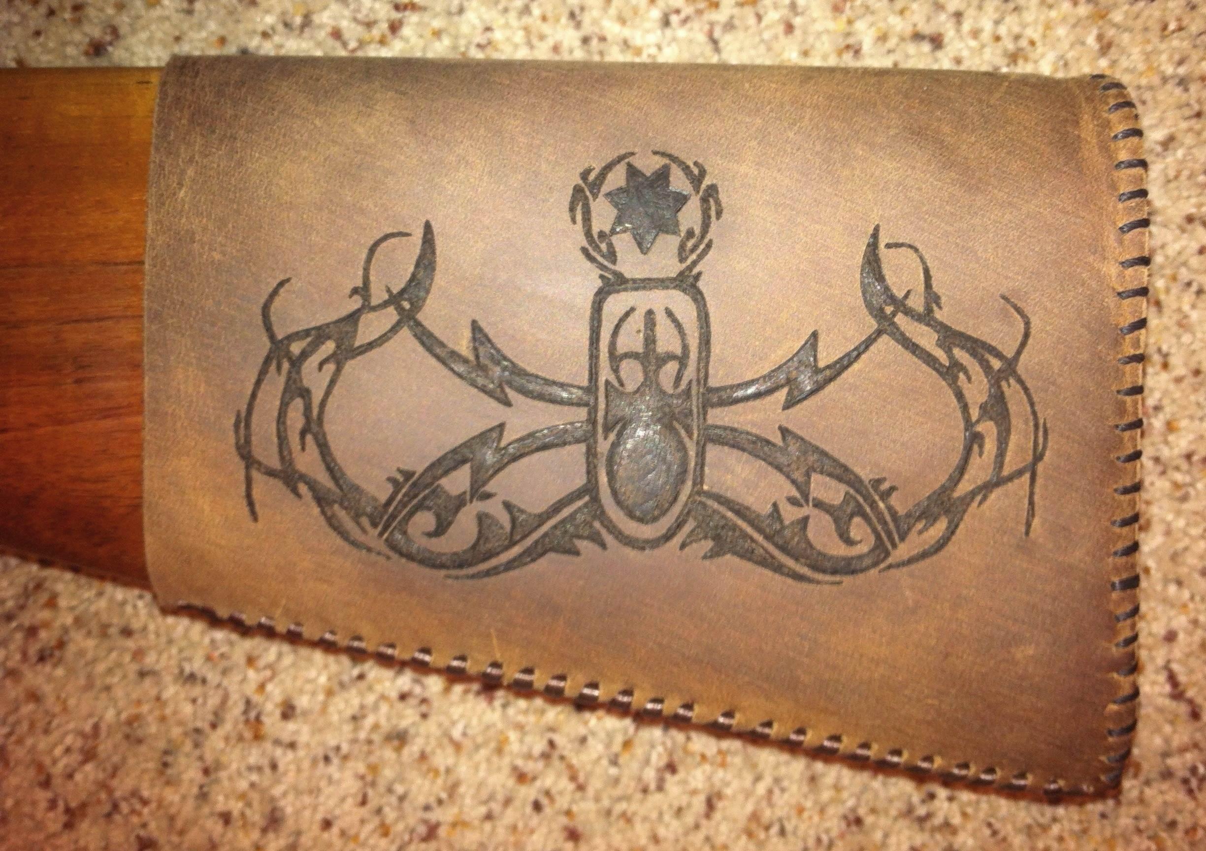 Circle M-Brand heat engraving EOD crab.jpg