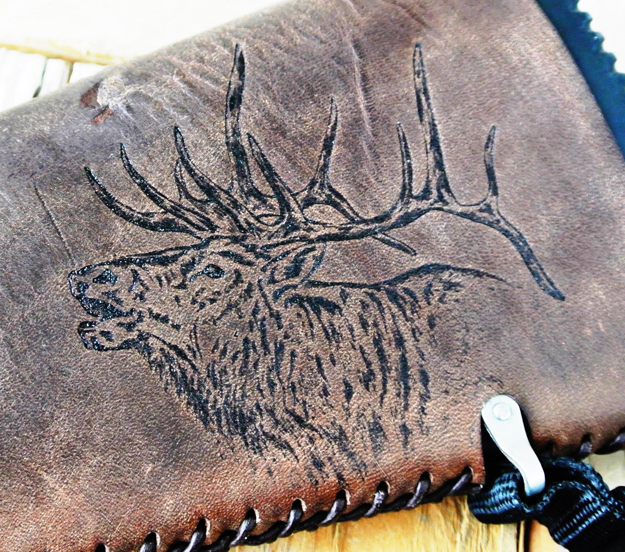 Circle M Brand - Heat Engraving (Bull Elk).JPG
