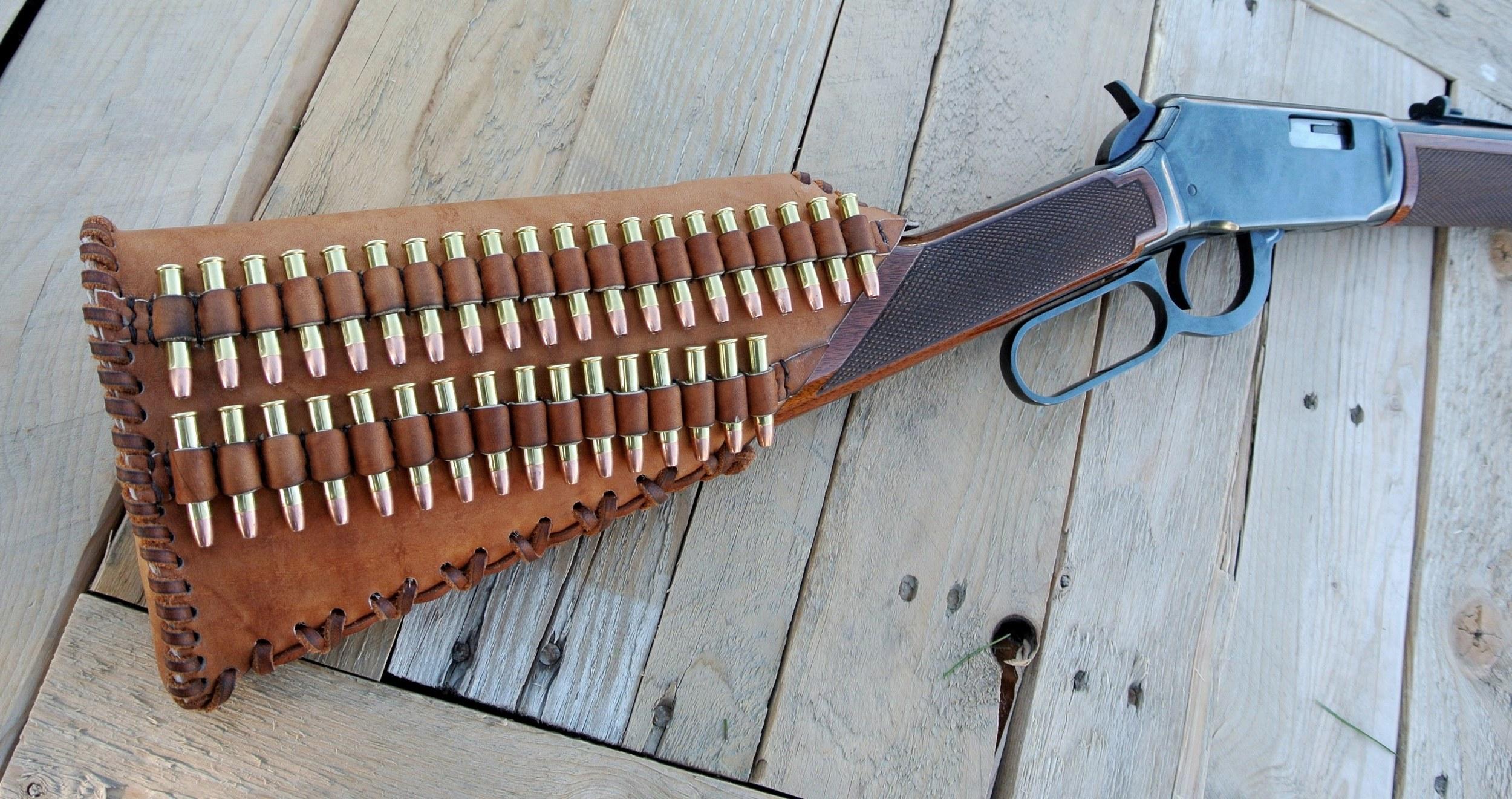 Circle M Brand Buttstock Cover - .22 Magnum ammo.JPG