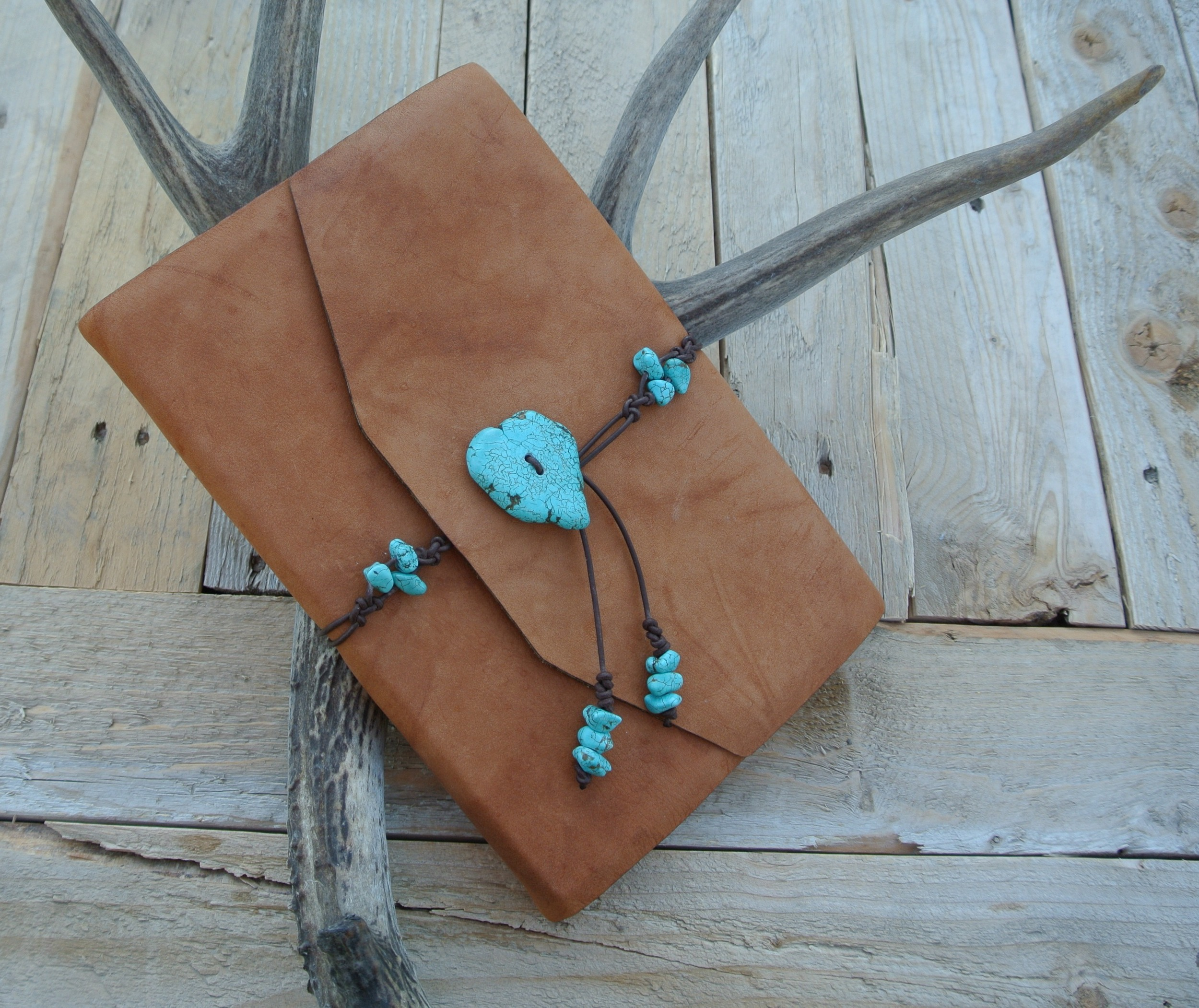 Circle M-Brand Leather Journal - turquoise.JPG