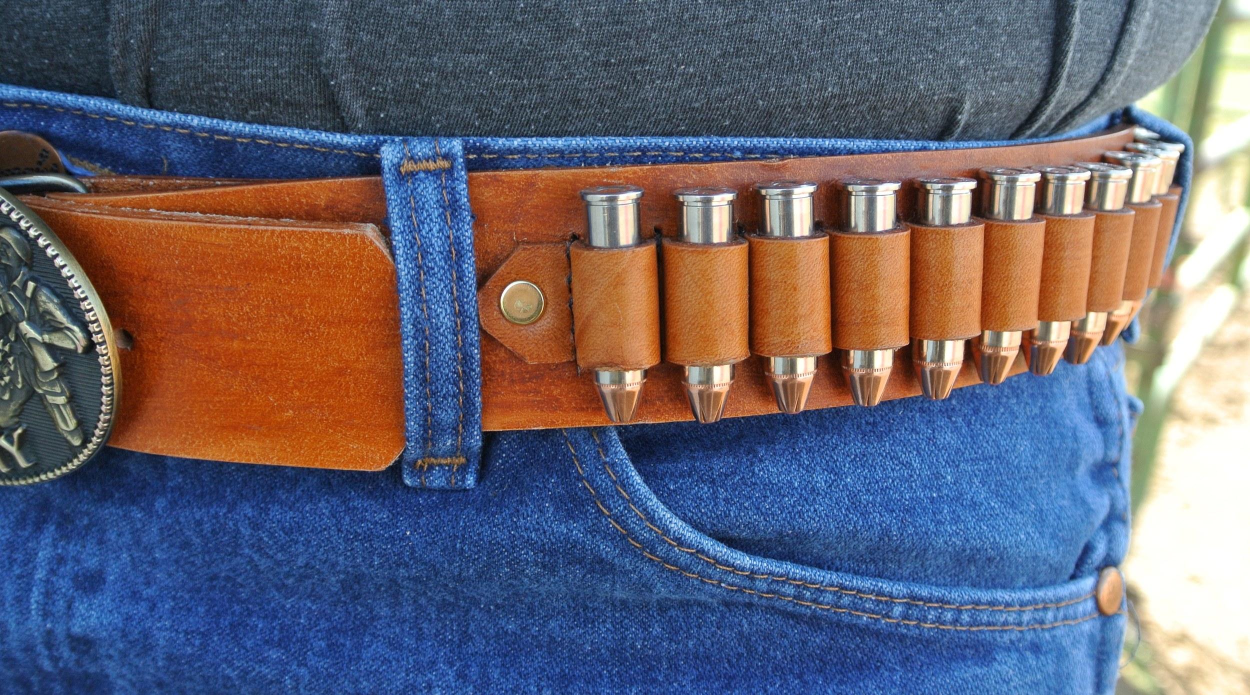 Leather Belt - Cartridge Holder!