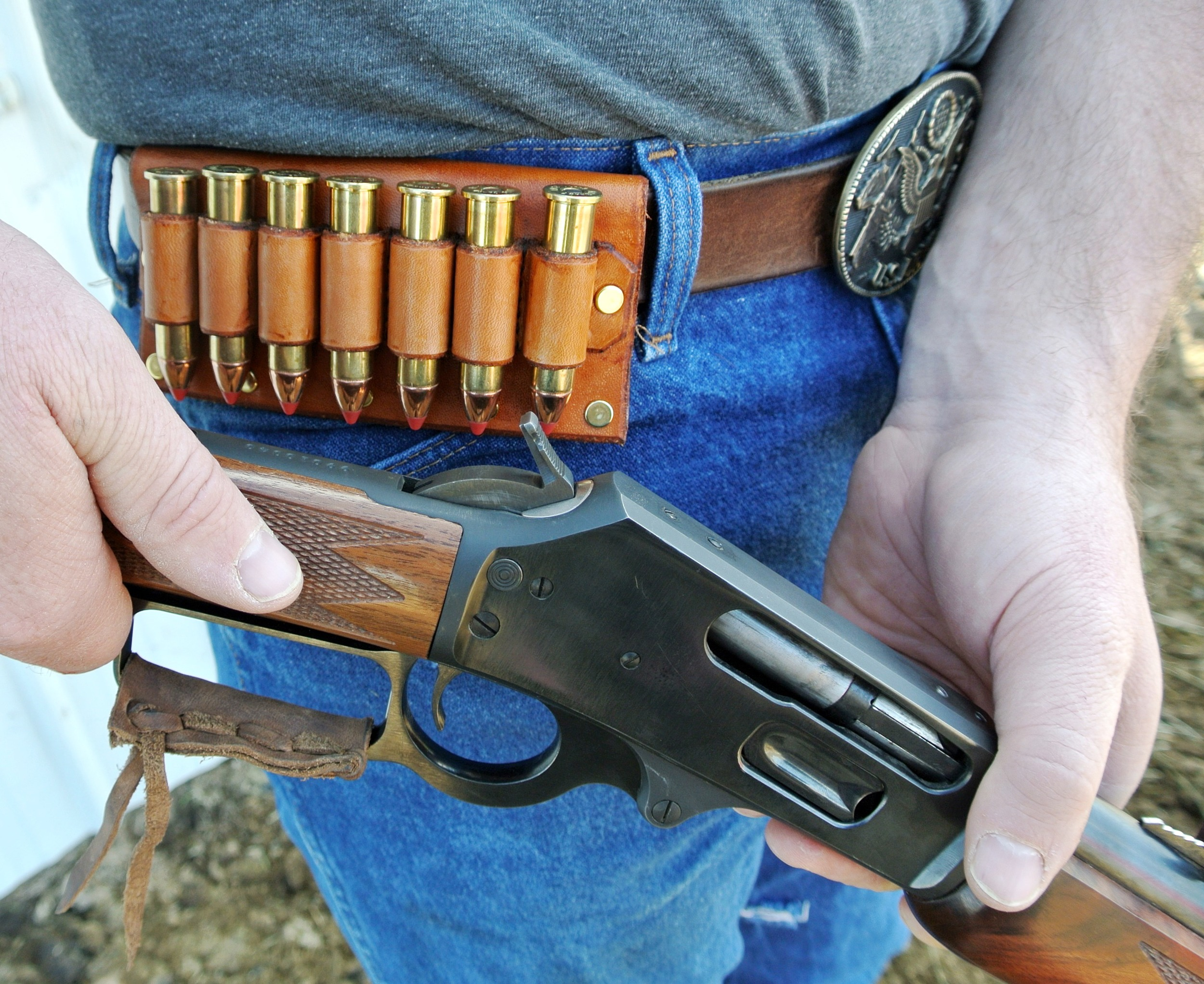 Leather Cartridge Holder for Belt!