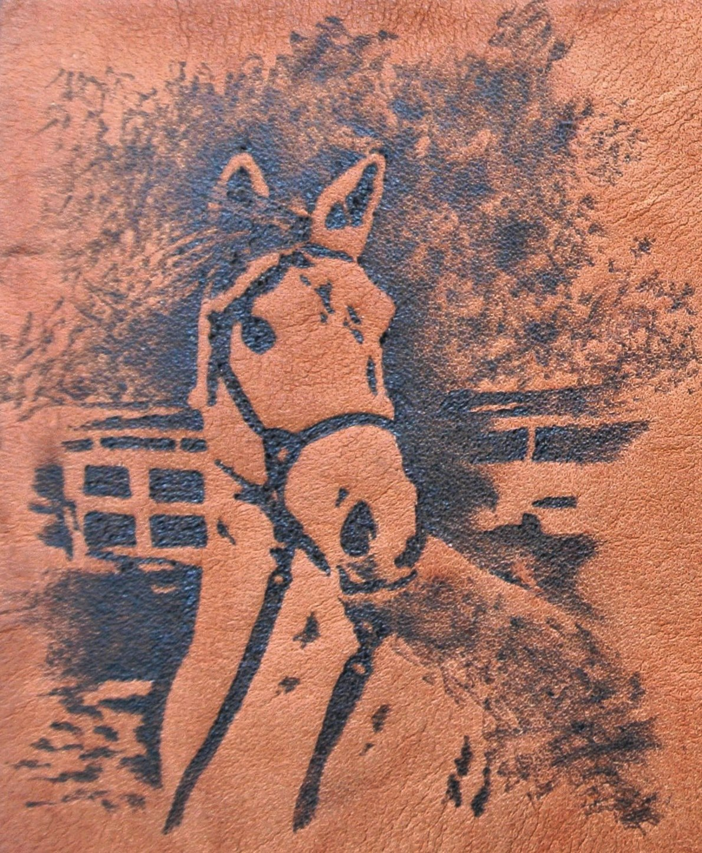 Circle M Brand - heat engraved horse.JPG