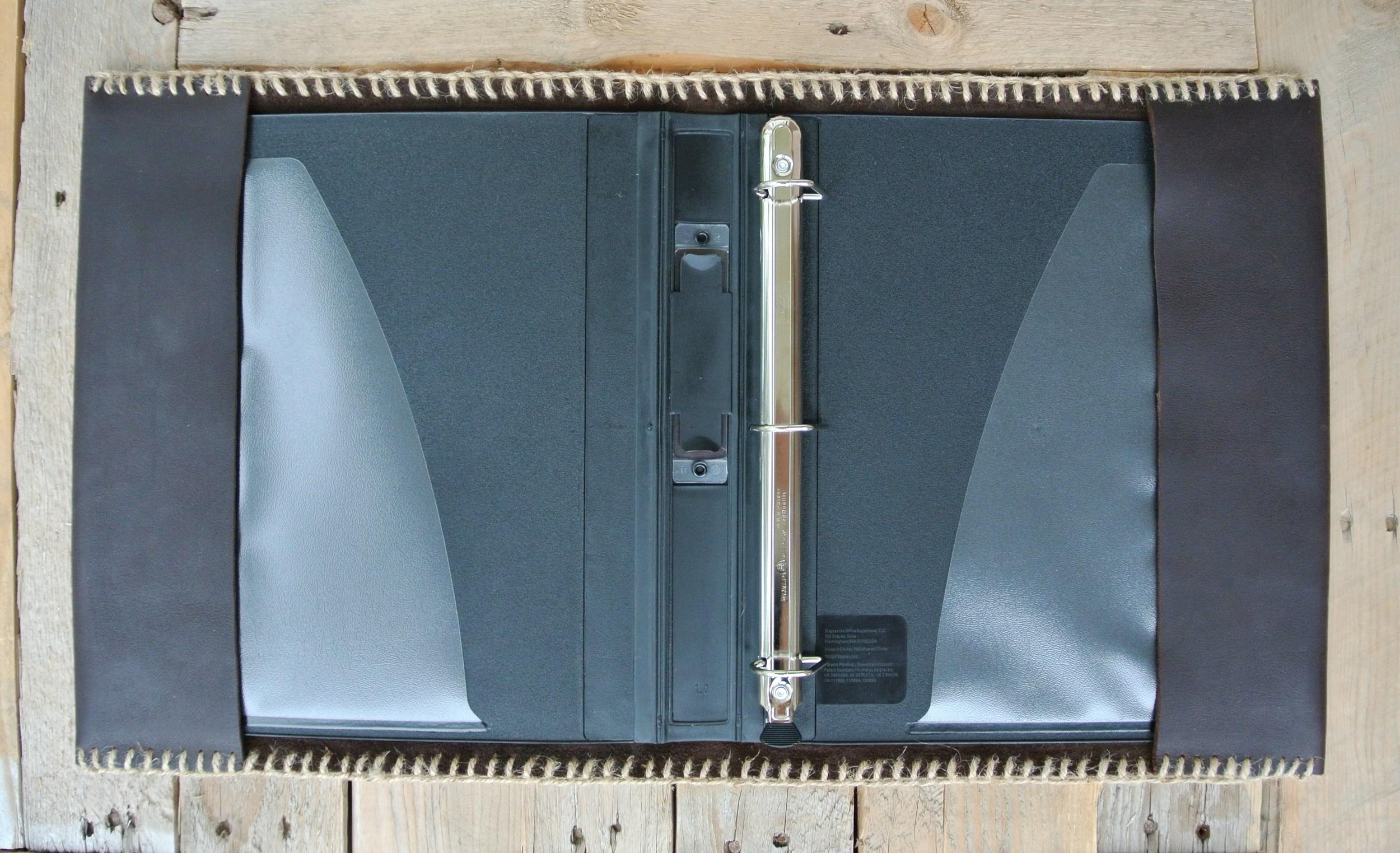Circle M-Brand Leather Binder - open 2.JPG