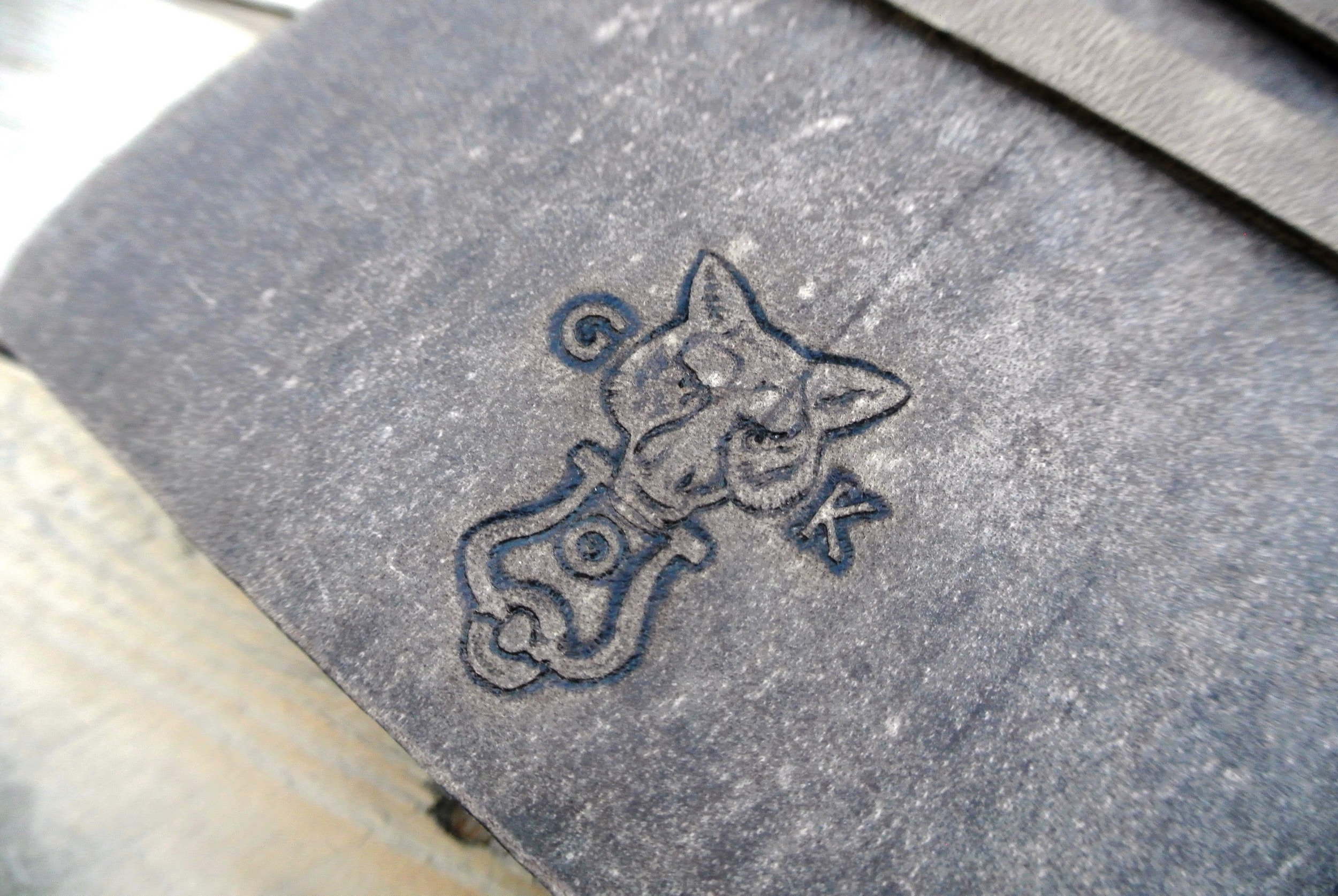 Circle M Brand - WOLF leather journal (GK Wolf).JPG