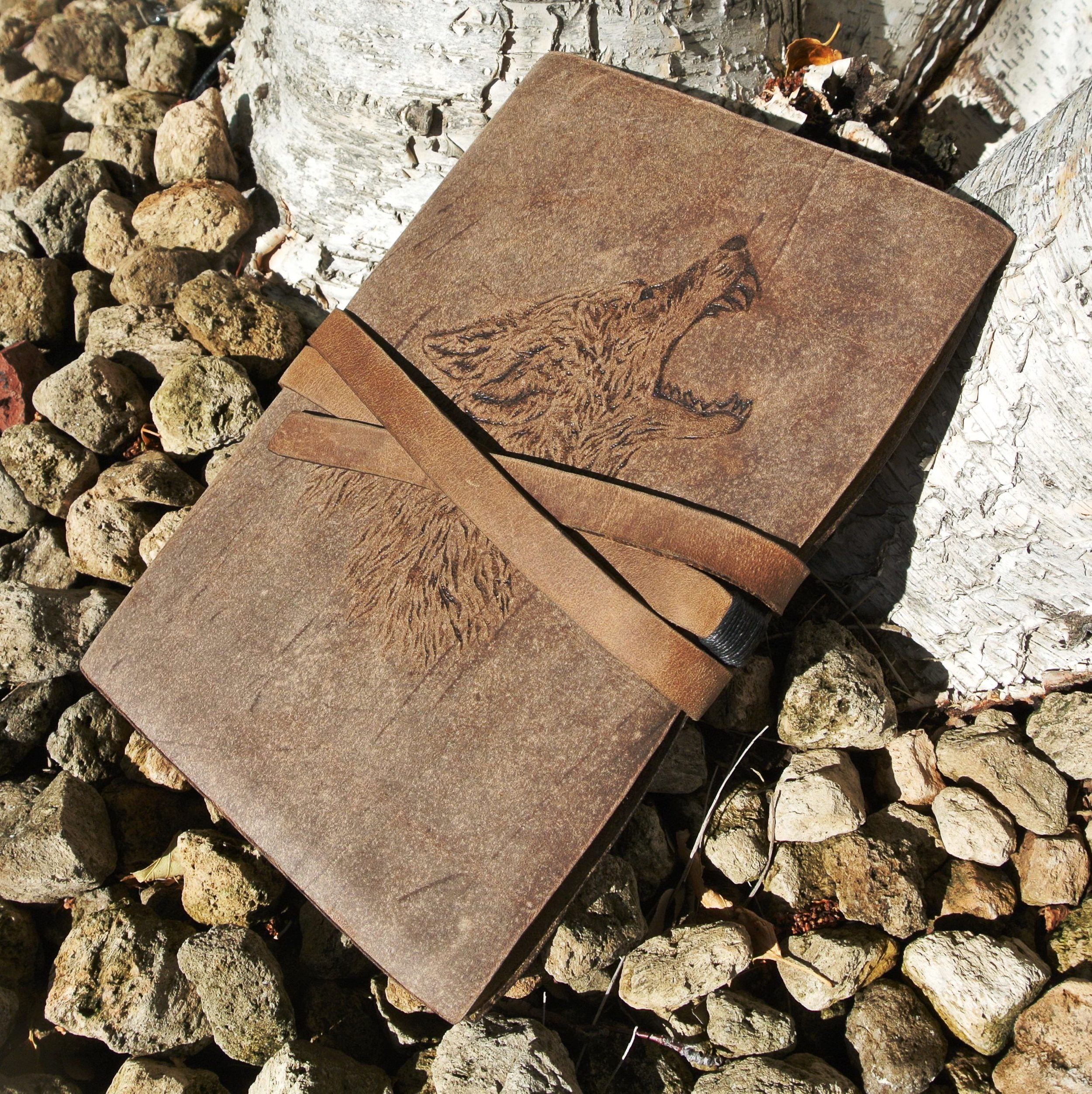 Circle M Brand - WOLF leather journal.JPG