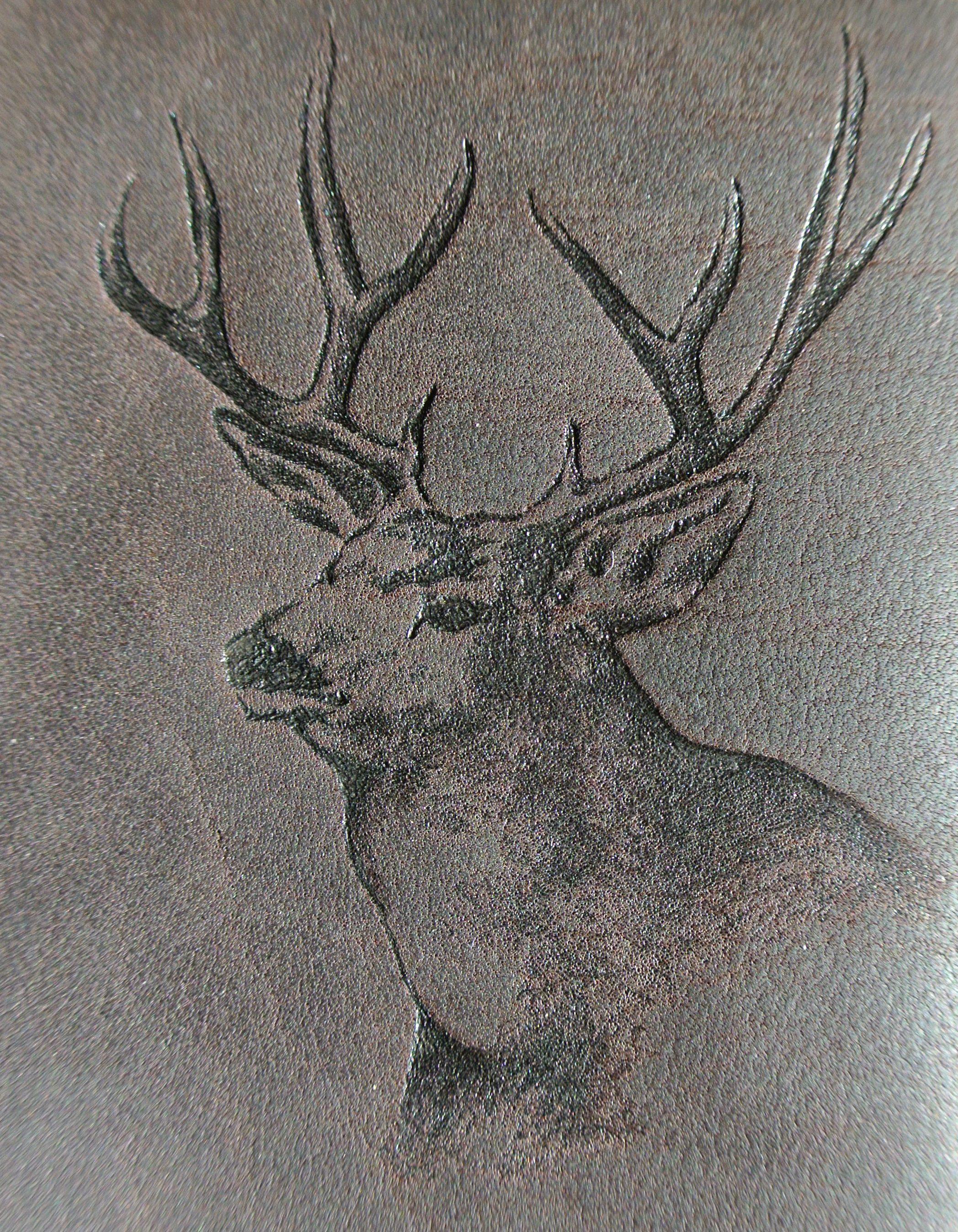 Circle M-Brand Deer Lether Engraving.JPG