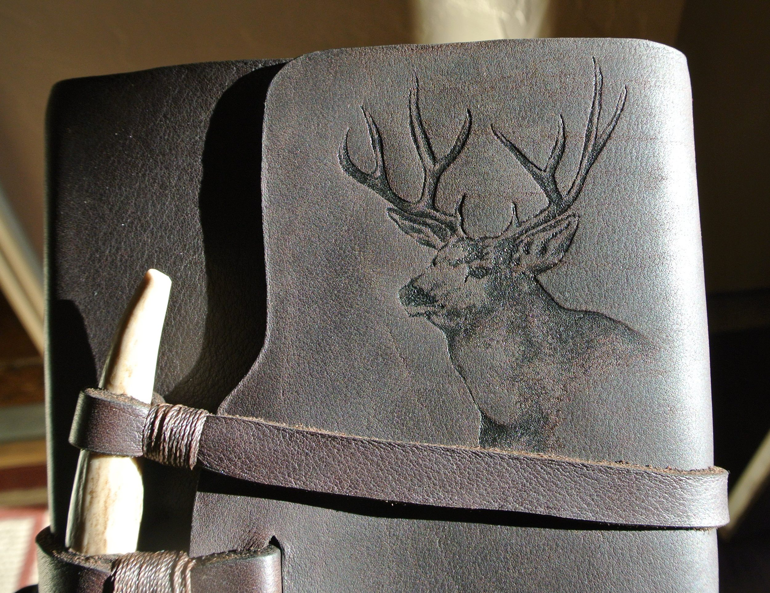Circle M-Brand - Deer Engraving.JPG