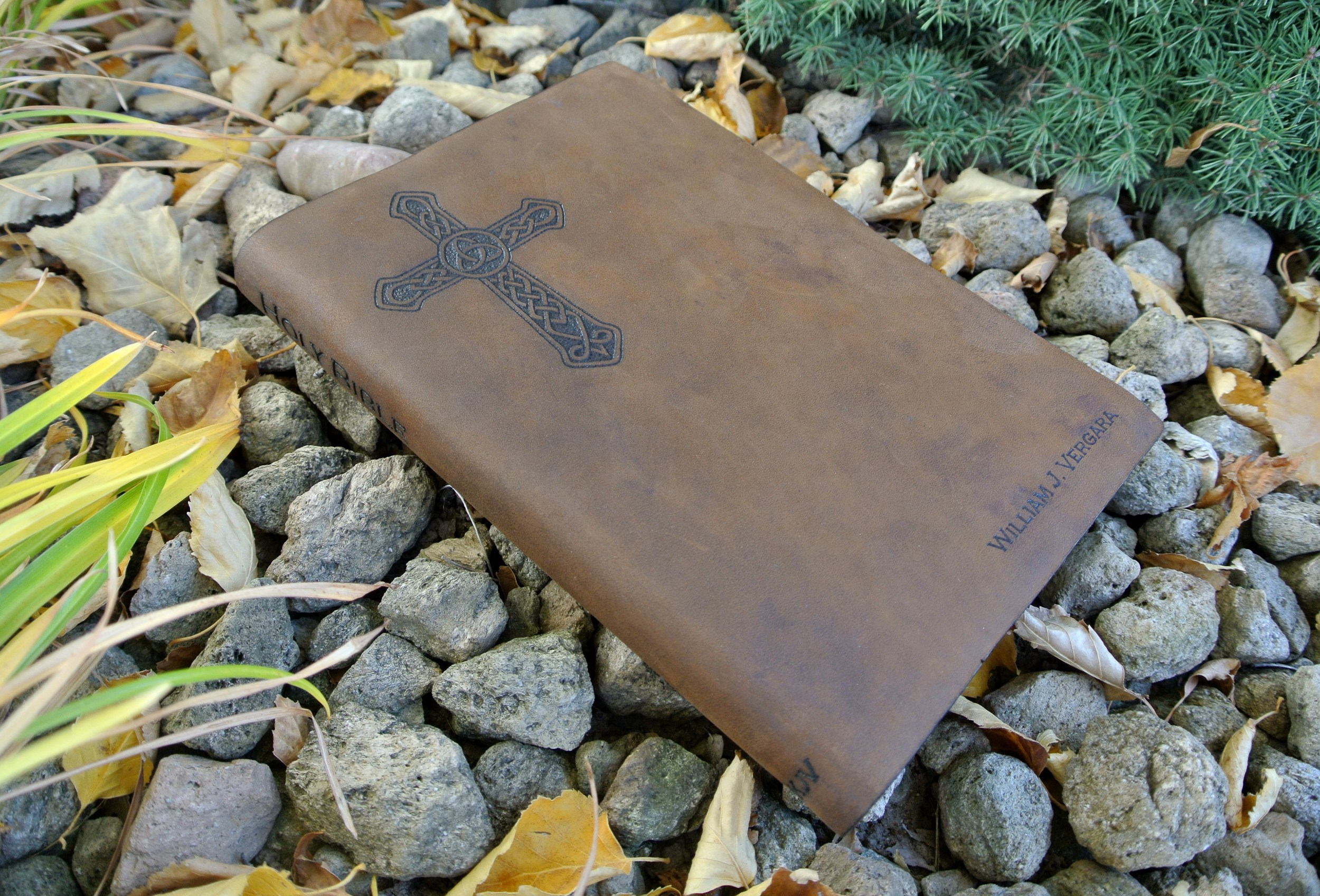 Circle M Brand - NKJV Bible custom Heat Engraved.JPG