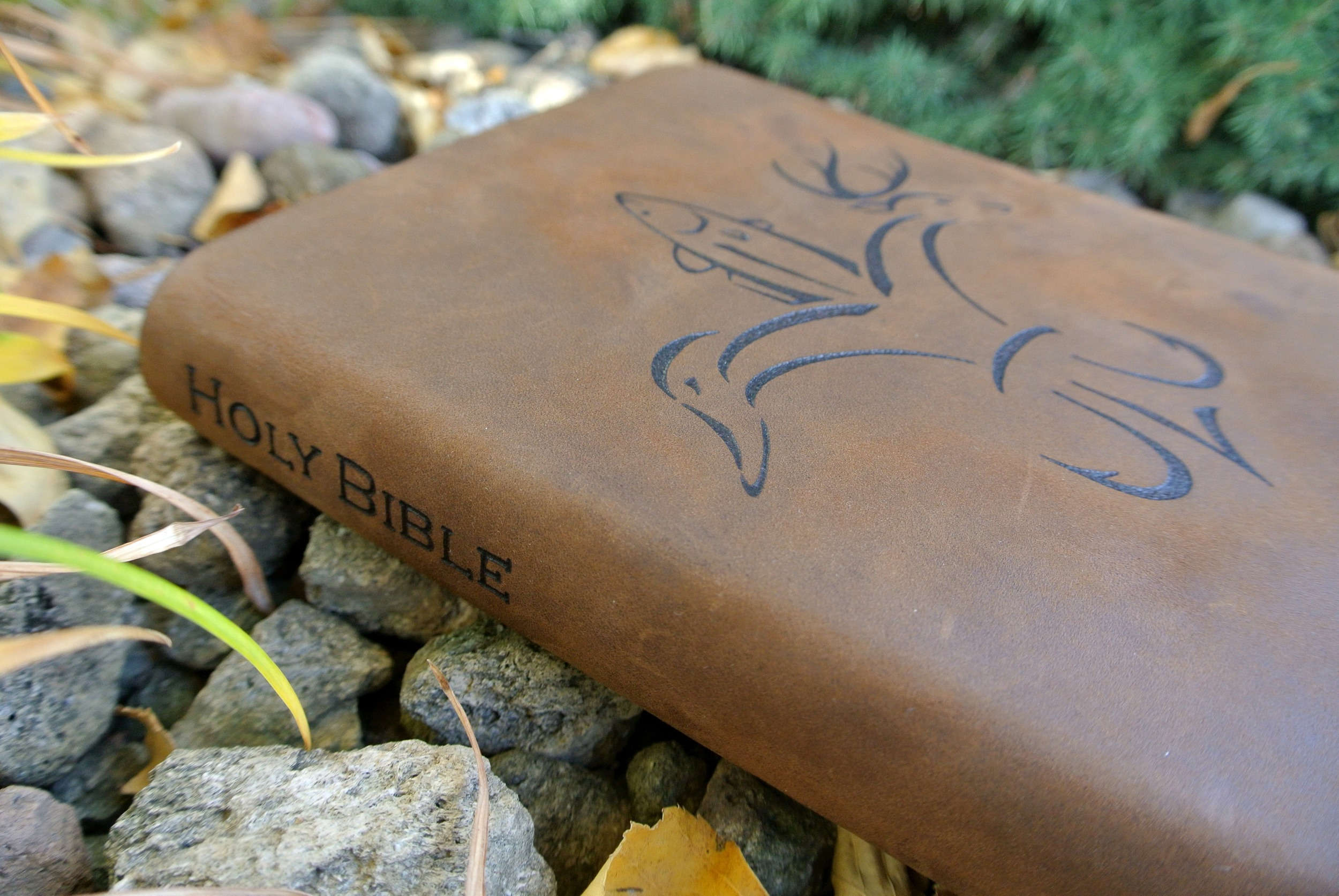 Circle M Brand - Holy Bible leather Heat Engraving.JPG