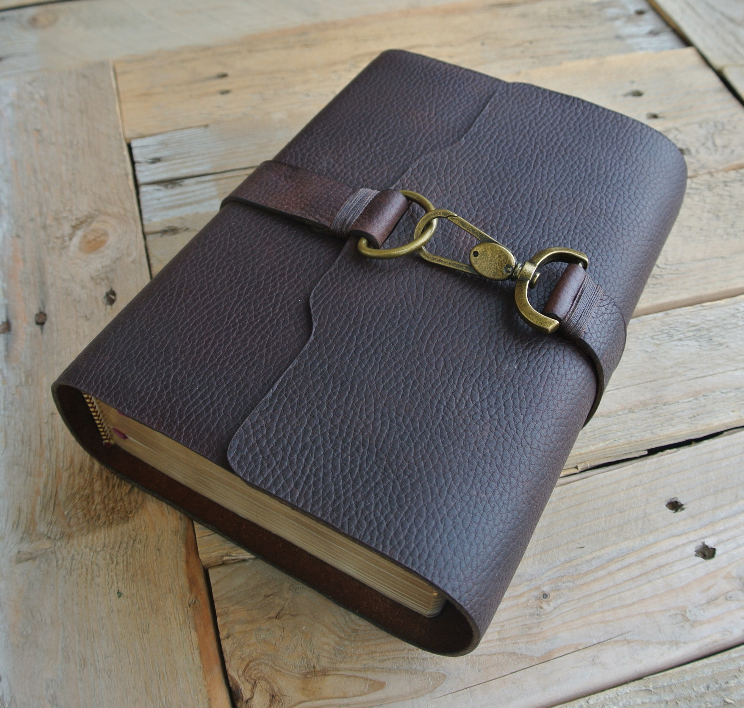 LDS Scriptures - Large Quad (indexed) - textured reddish brown leather.JPG