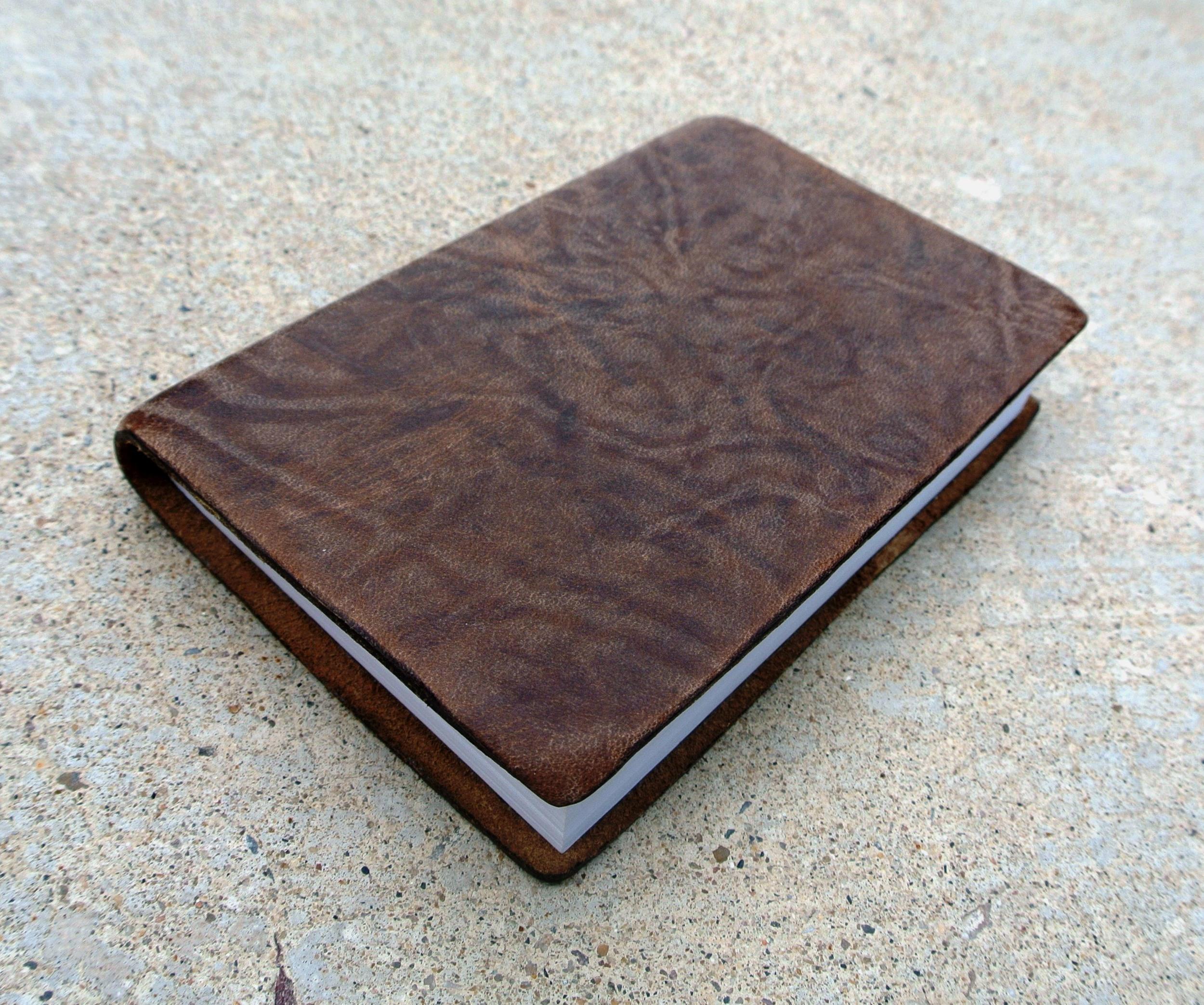Circle M Brand - mini Book of Mormon with leather binding.JPG