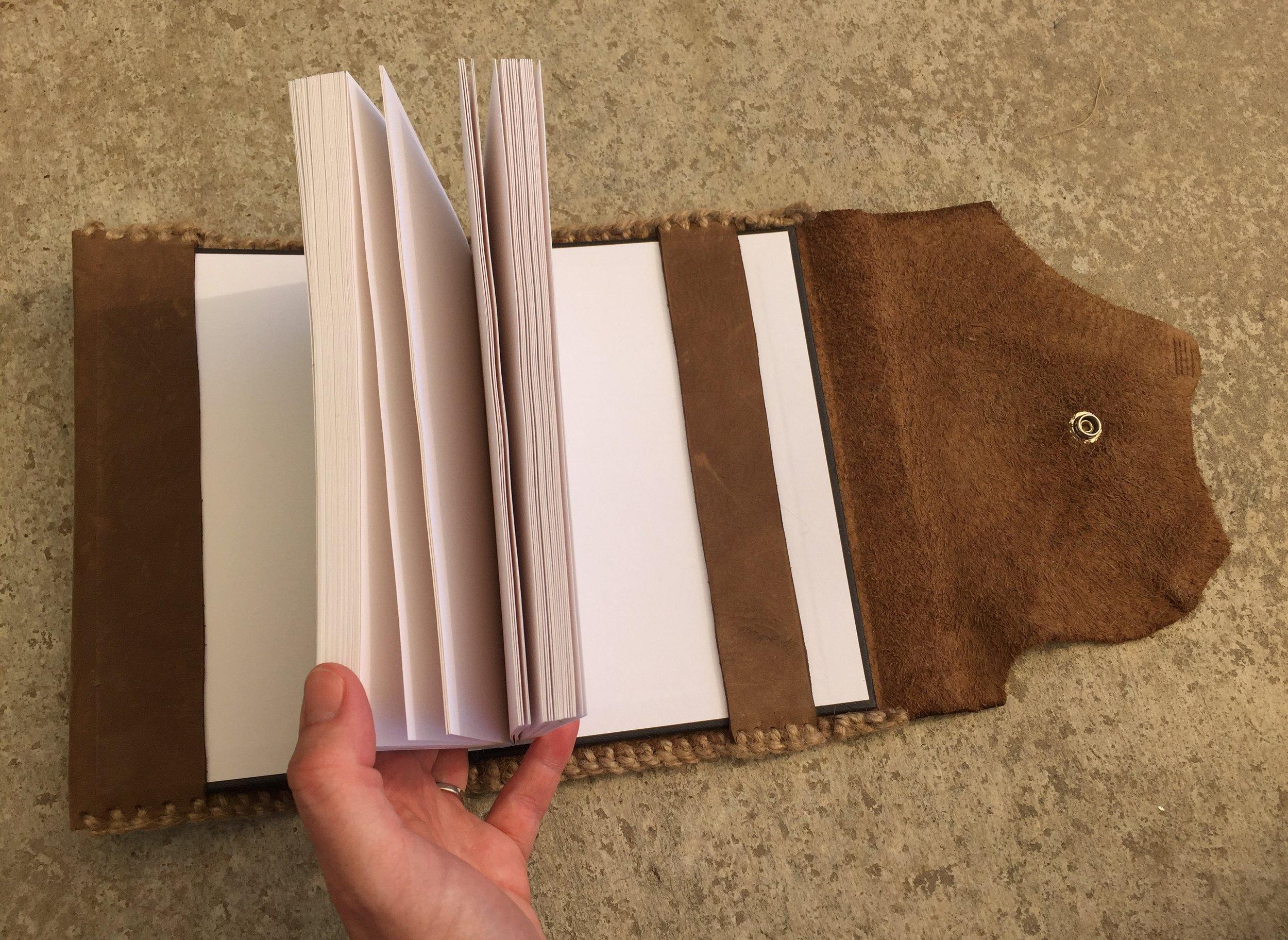 Circle M Brand - Sketchbook (small) open hardbound.JPG