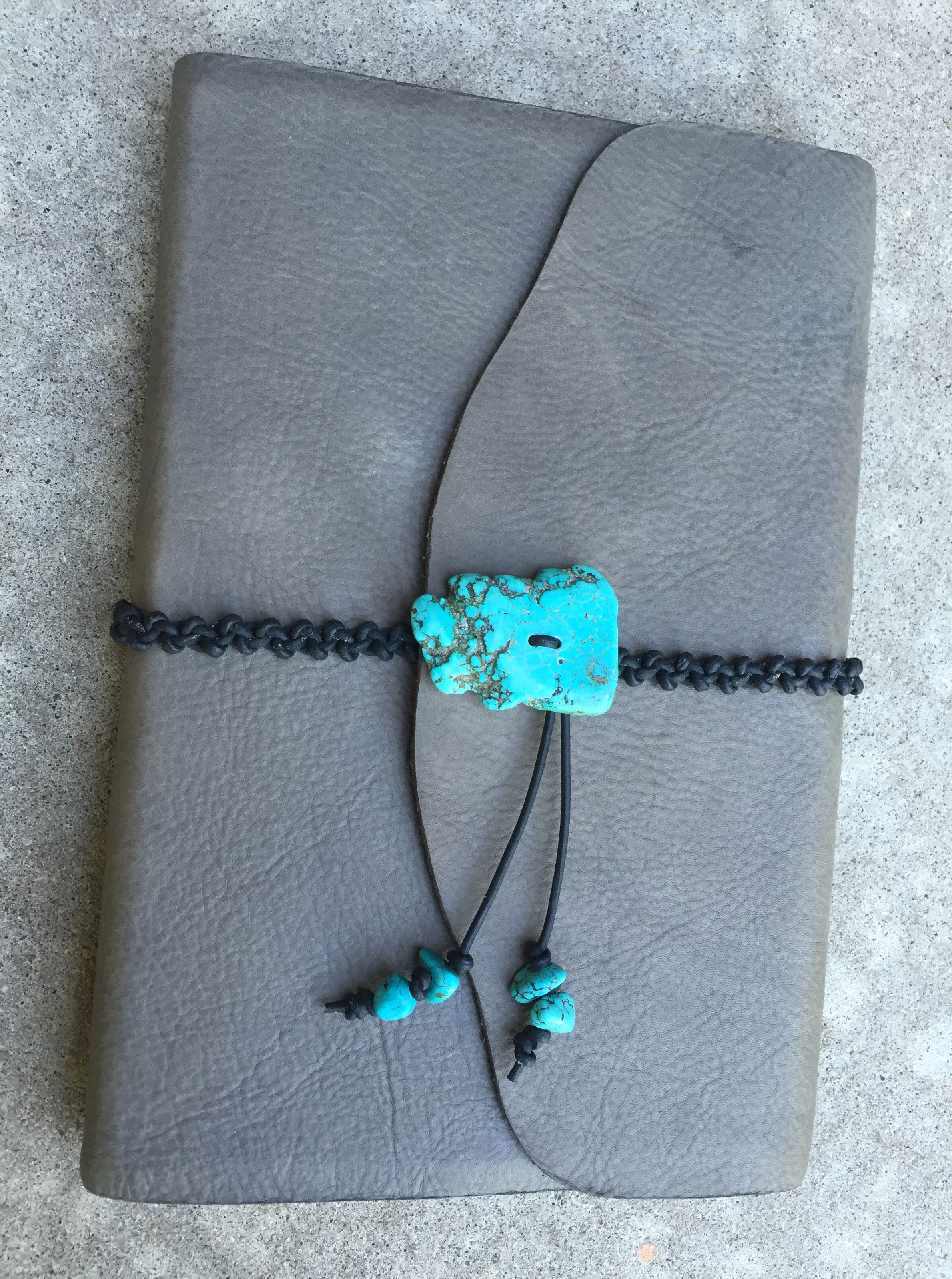Circle M Brand - large Journal with turquoise.JPG