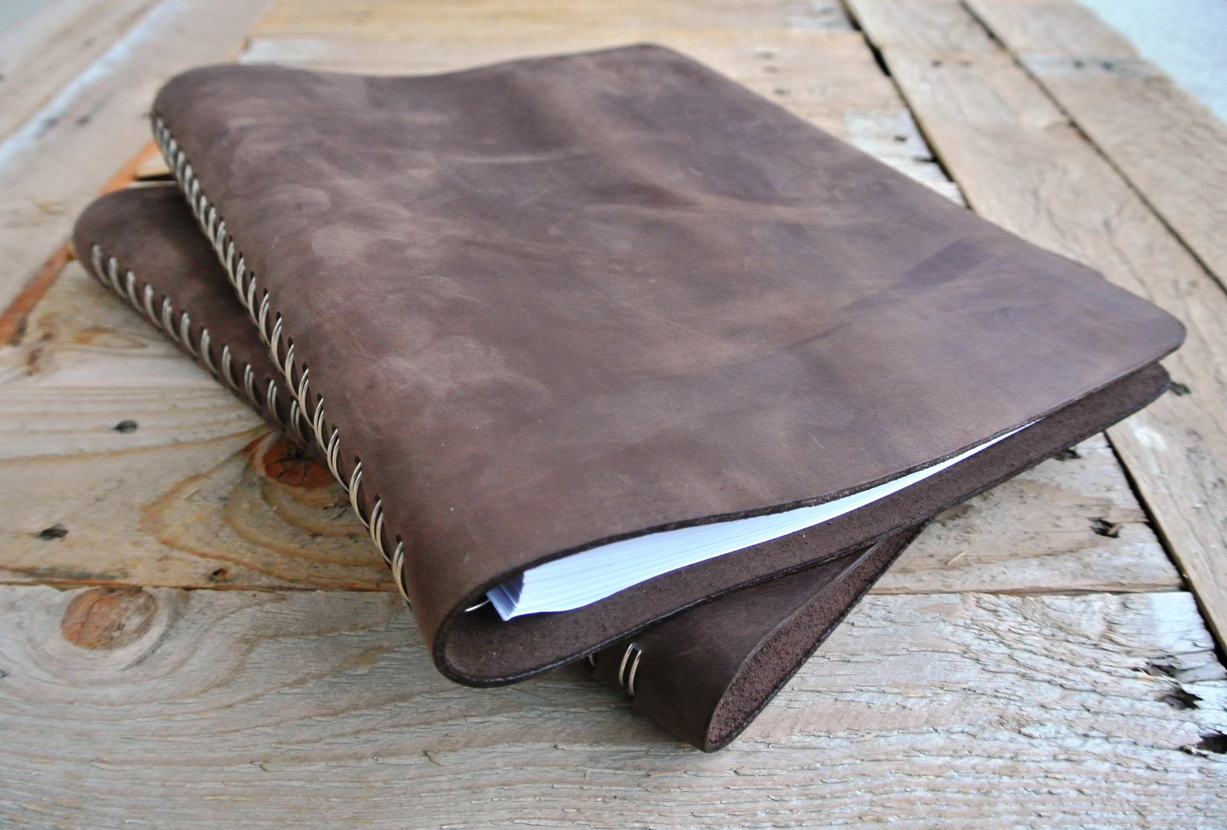 Custom leather Planner binding