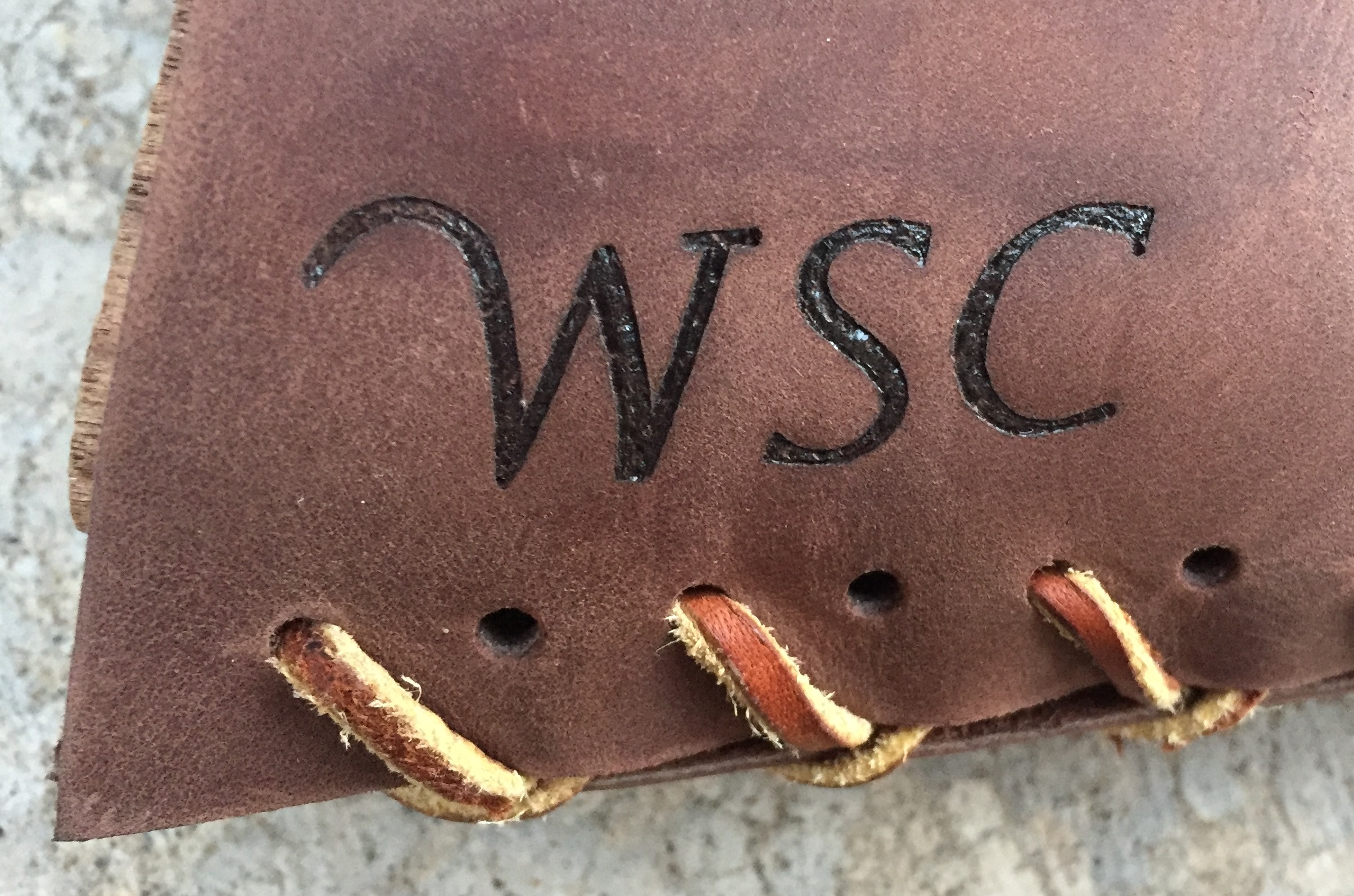 Circle M Brand - initials WSC - heat engraving.JPG