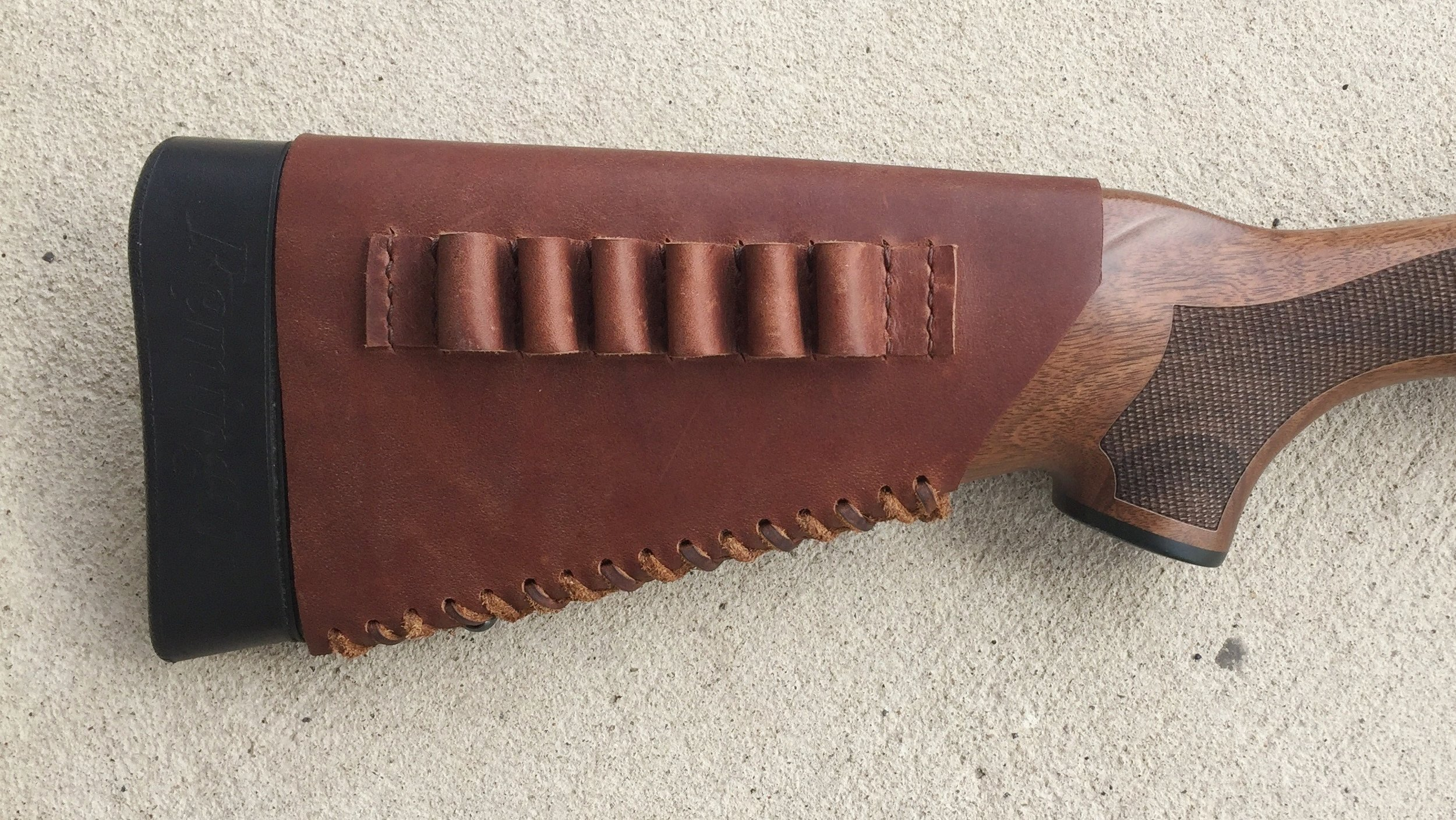 Circle M Brand - leather Buttstock Cuff with Loops for ammo.JPG