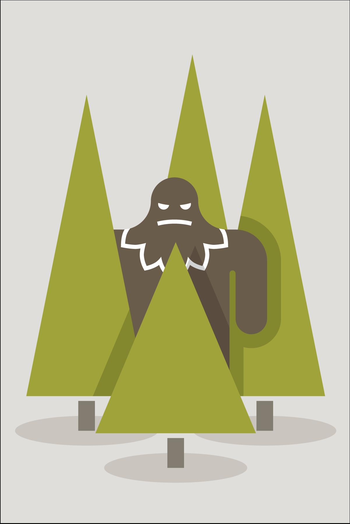 Sasquatch illustration by Mark Mularz of Fetch Design