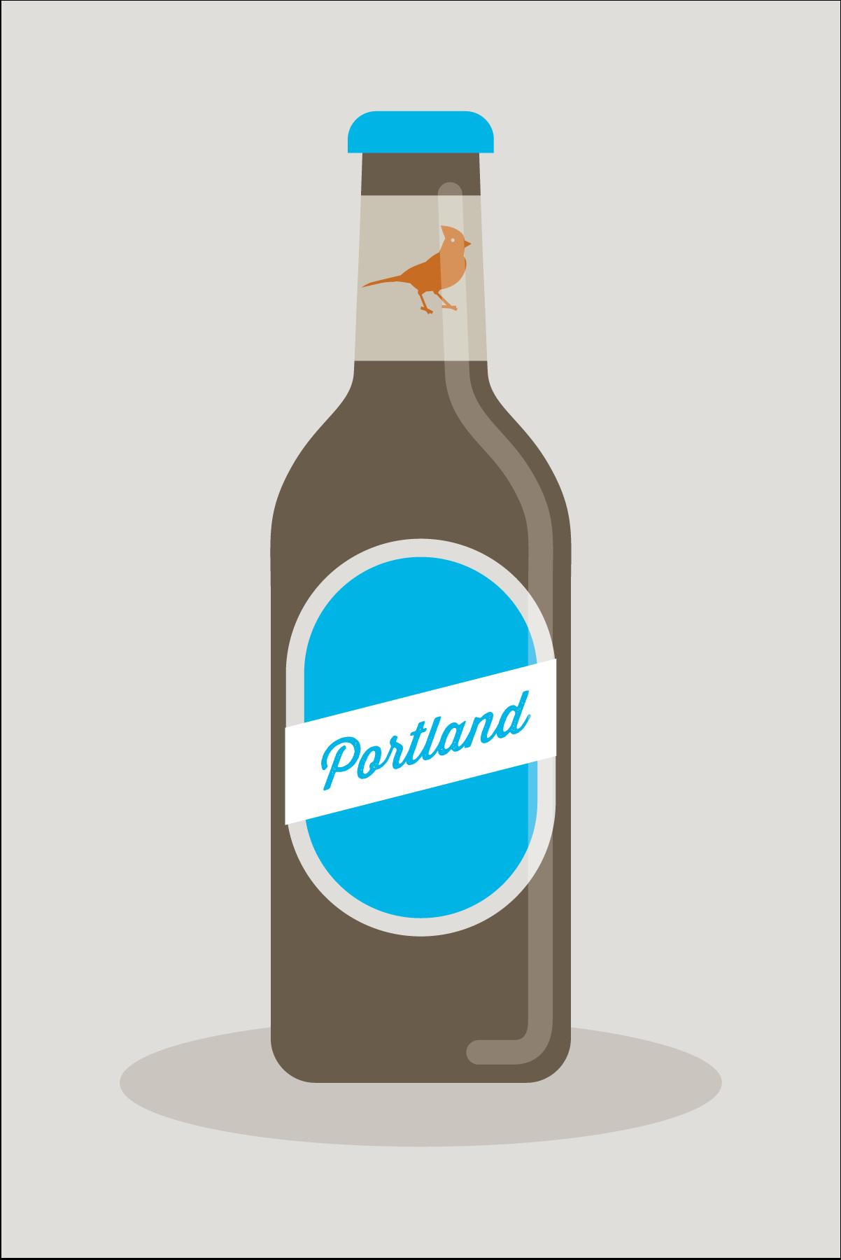 Portland beer illustration by Mark Mularz of Fetch Design.
