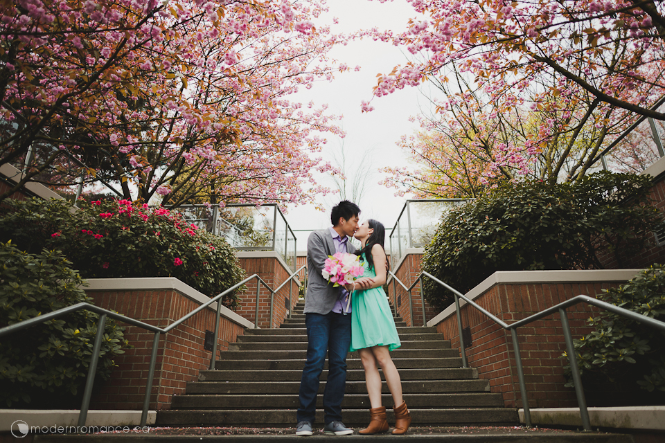 just a little kiss under the peach blossom trees