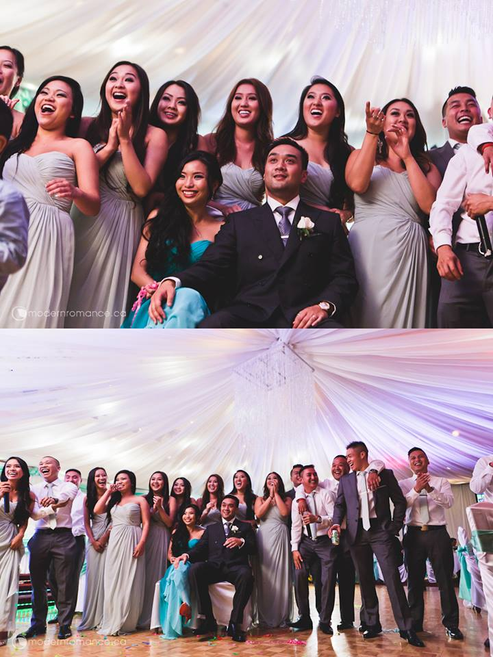 reactions of the couple and their awesome bridal party! BEST REACTIONS EVER!