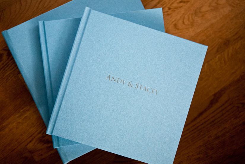 Cover Option 2- Linen(with foil stamping $40) -  BASE COLOUR in example above: blue Taffy Sprinkles