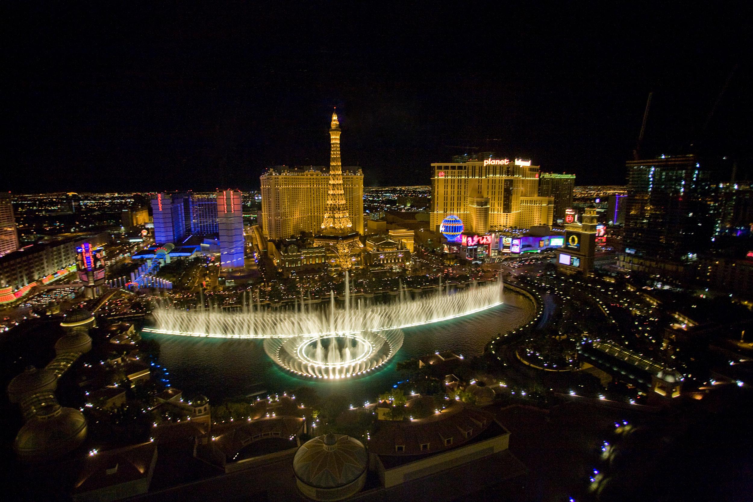 Bellagio Fountain on the Las Vegas Strip