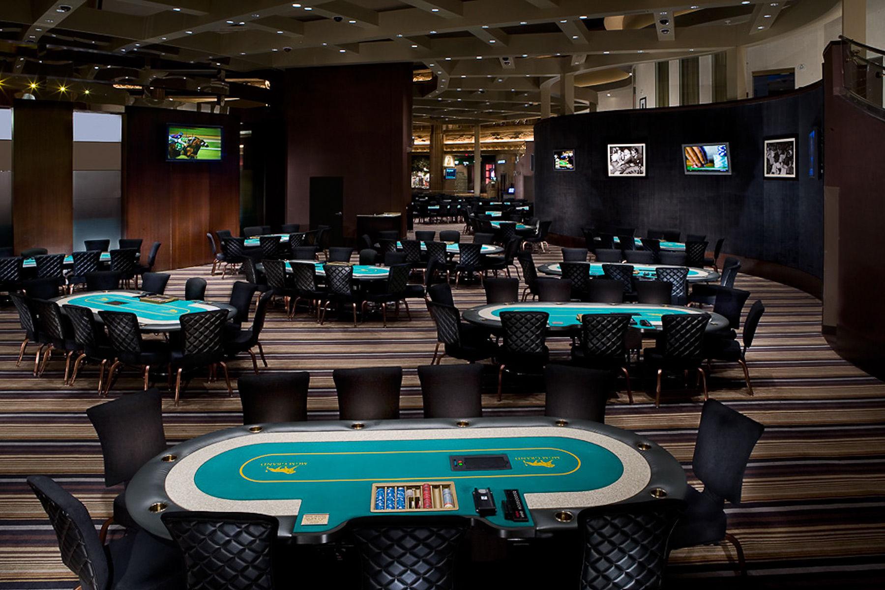 Poker room at MGM Grand Las Vegas.