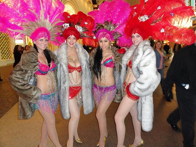 Even showgirls get chilly.