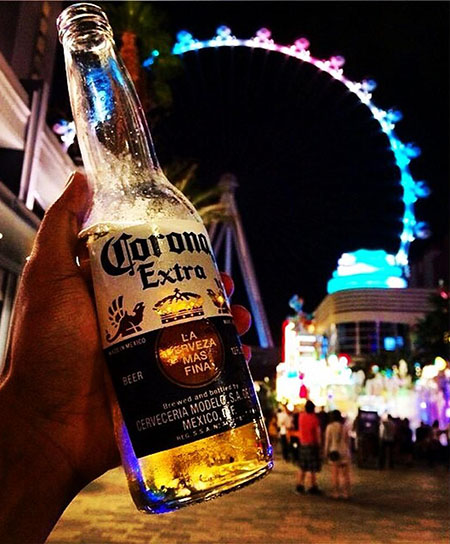 Drinking on the strip is OK