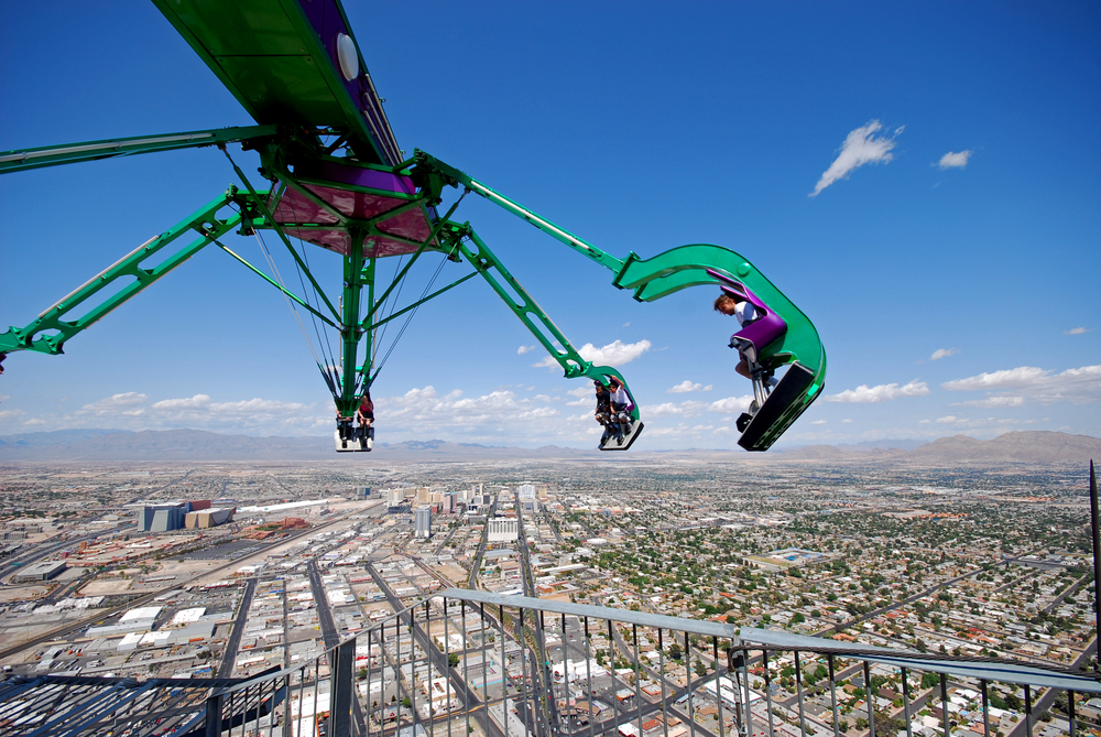 High above the Vegas Strip at the Stratosphere Las Vegas