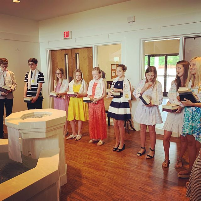So much goodness! Between last week and today, 13 confirmands committed to following in the way of Jesus through All Saints'. We also celebrated Pastor Reed and Duke Divinity Intern Becca Boyer, who will be married in a few weeks. Thanks be to God for all these joys! #gatheringpeopleintocommunion