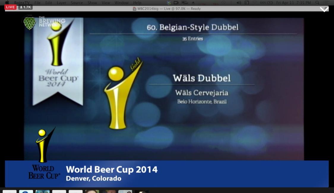A Wäls Dubbel conquistou uma medalha inédita para o Brasil (Foto: reprodução da transmissão ao vivo da cerimônia pela internet)