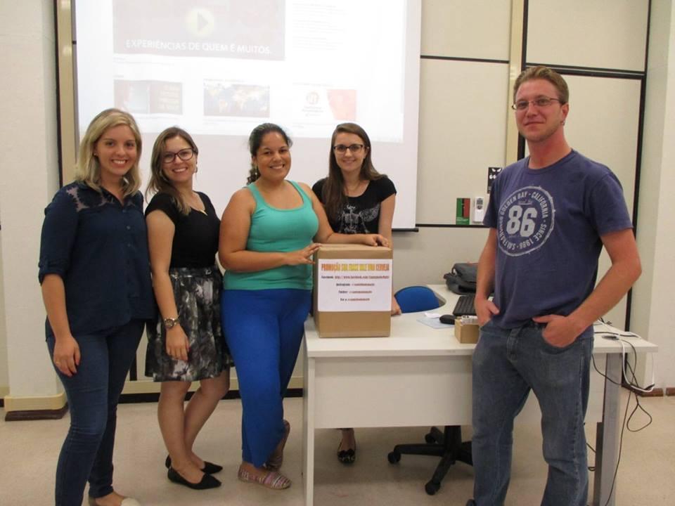 Idealizadores do projeto Caminho do Malte. Da esquerda para a direita: Gisele Agliardi, Gabriela Boesel, Daniele Brito, Karina Sgarbi e Fabricio Romi. (Foto: Divulgação)