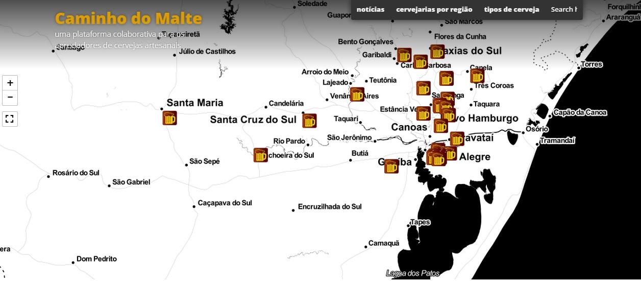 A plataforma colaborativa identifica onde tem produção de cerveja e disponibiliza informações sobre os estabelecimentos (Foto: Divulgação)