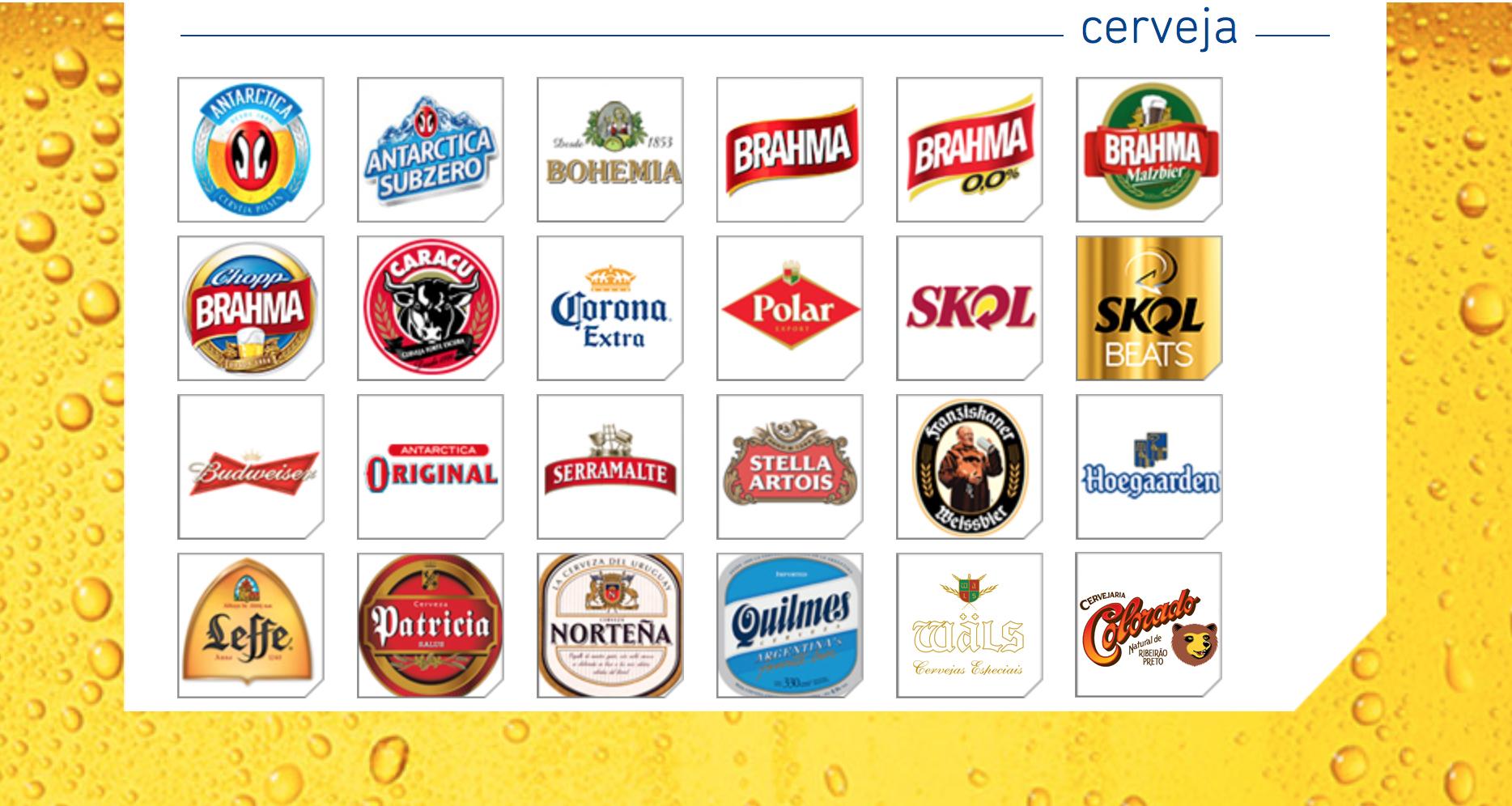 Em um exercício de comparação, a partir do quadro de marcas que a Ambev apresenta em seu site, a Beer Art inseriu as marcas da Wäls e da Colorado