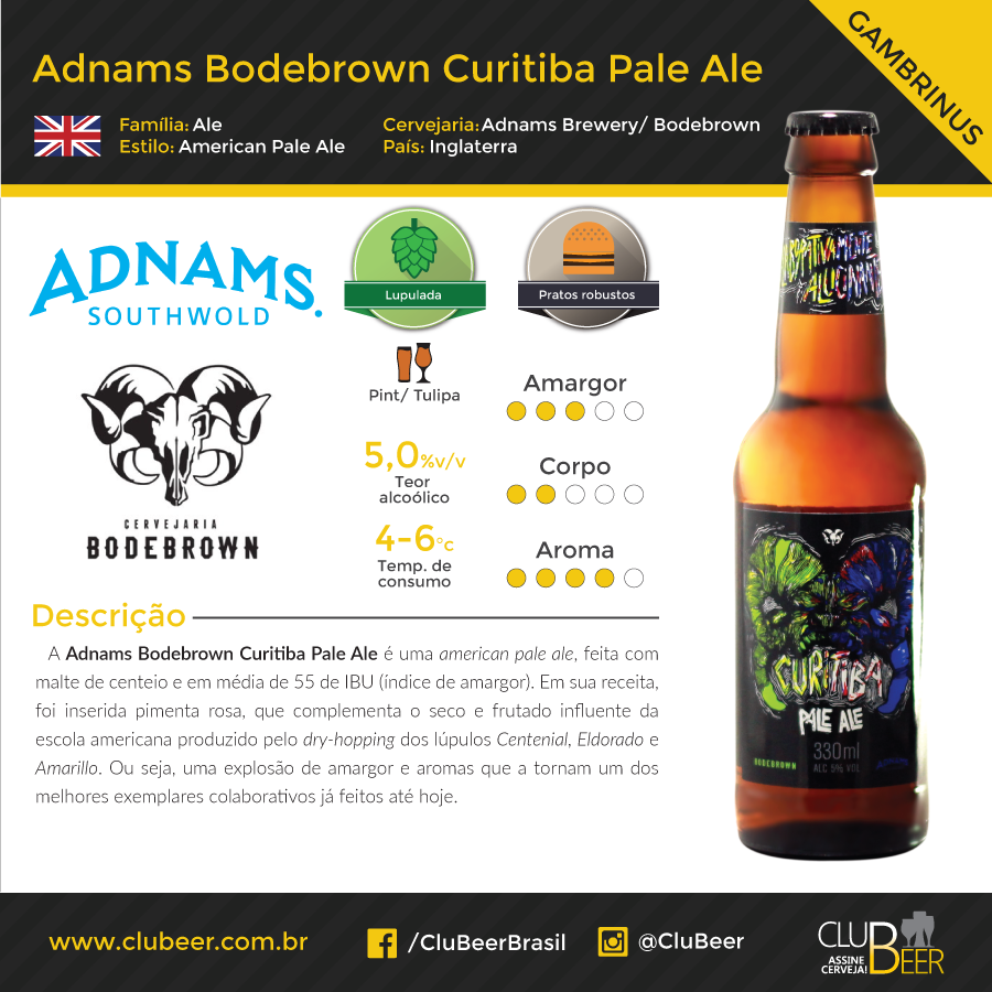 Adnams Bodebrown Curitiba Pale Ale