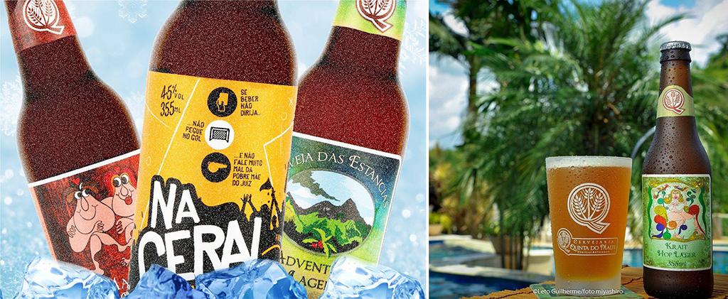 """Cervejaria que já produzia cervejas como a """"Na Geral"""" (esq.) apresenta seis rótulos próprios (Fotos: Divulgação)"""