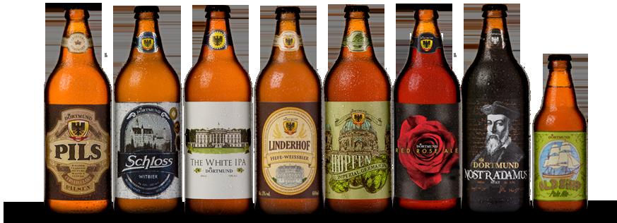 Além das cervejas de linha e sazonais, copos e acessórios são oferecidos na Dortmund Store (Foto: Divulgação)