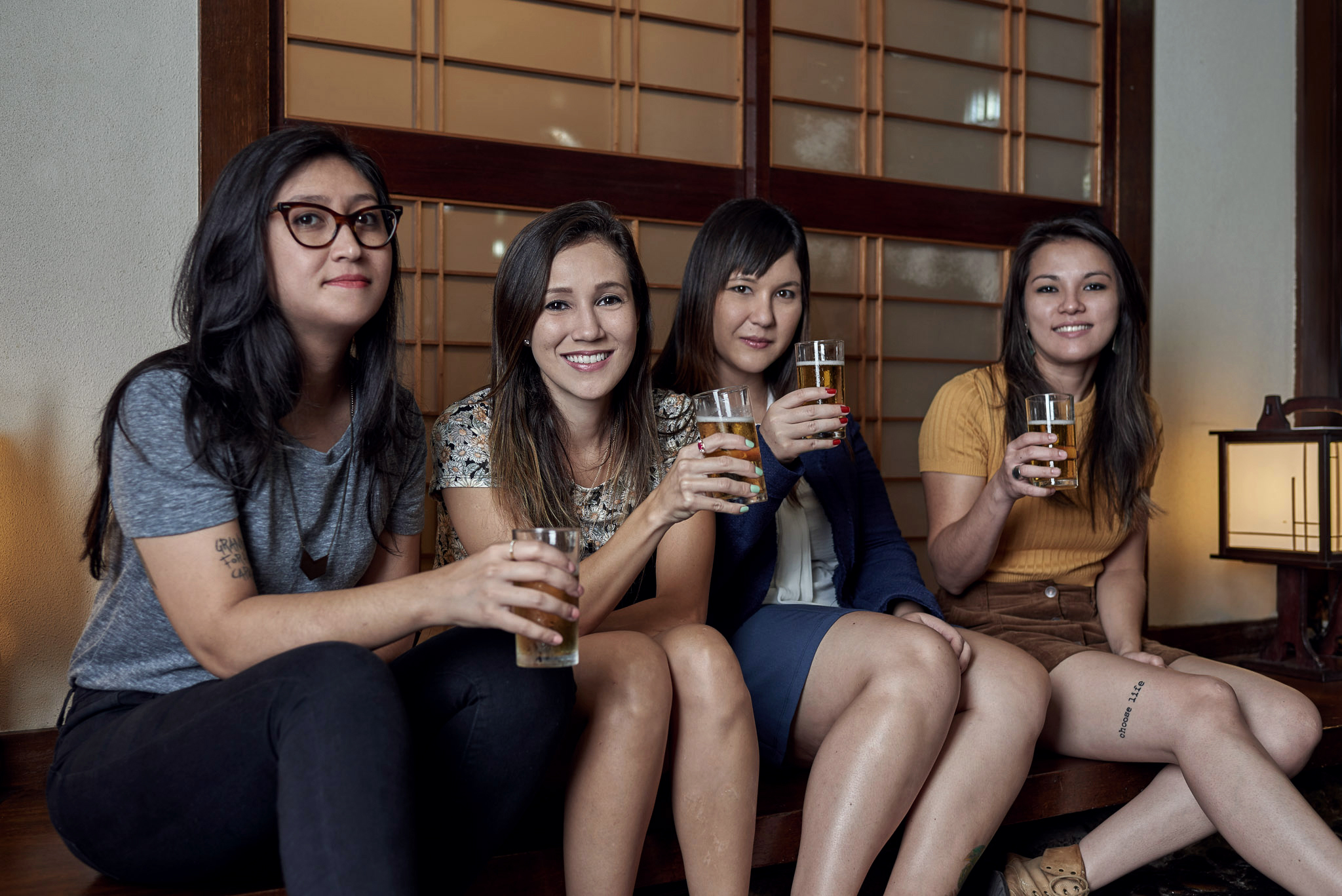 """Cervejaria é formada por quatro """"nipodescendentes"""": Yumi Shimada, Fernanda Ueno,Maíra Kimura e Carol Okubo (Foto: Bruno Fujii/Divulgação)"""