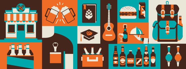 Unidade também oferece um mix de produtos, como camisetas da marca, kits cervejeiros, taças, copos, e petiscos gourmet (Foto: Divulgação)