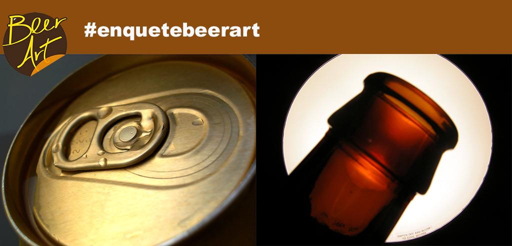 Na enquete, o foco é a beleza do rótulo, e não importa se for a embalagem for de lata ou garrafa (Fotos: Free Images)