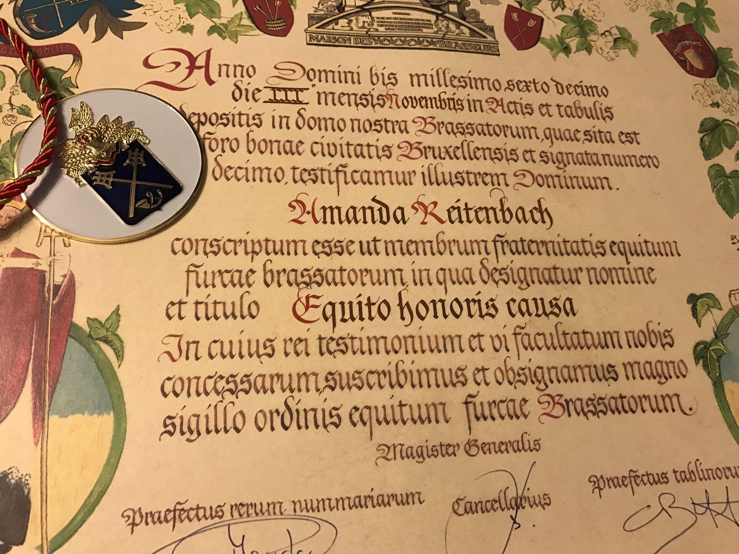 Detalhe da distinção (Foto: Divulgação)