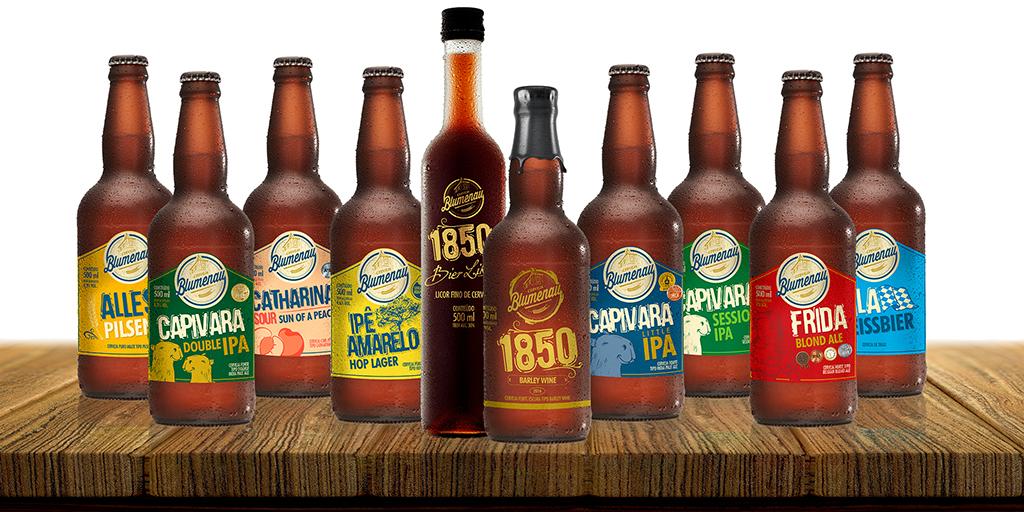 Em 2016, a cervejaria catarinense ampliou a linha, chegando a nove cervejas e um licor (Foto: Divulgação)