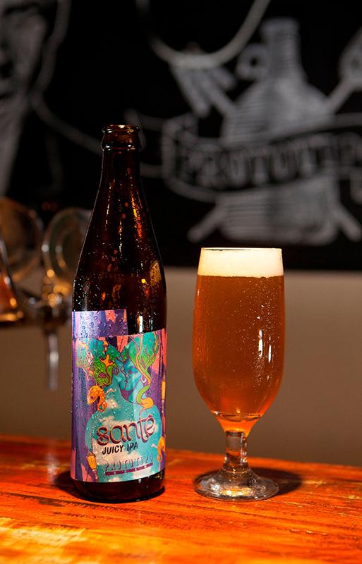 Santê, a Juicy IPA da Cervejaria Protótipo Brew (Foto: Denilton Dias/Divulgação)