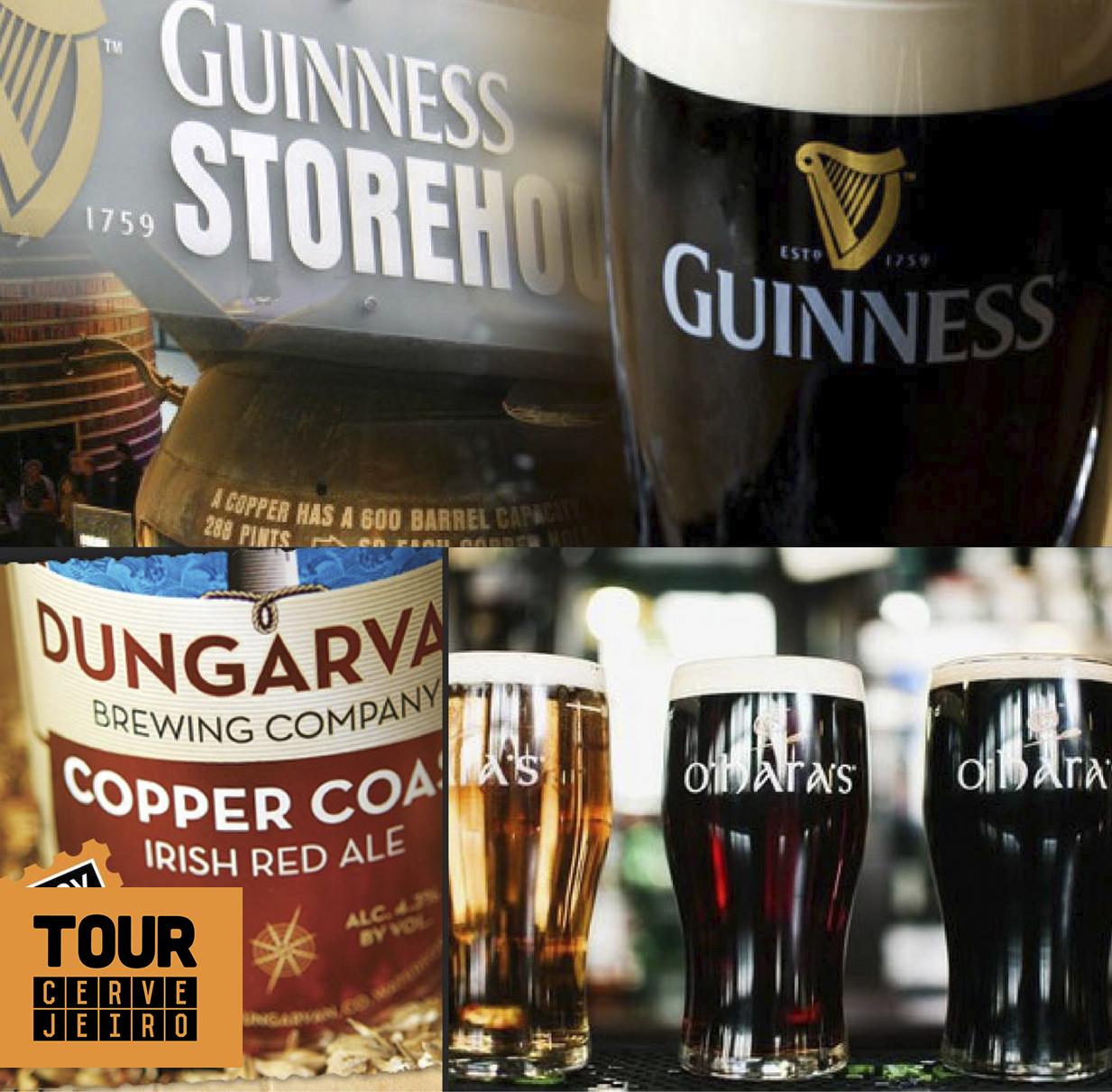 Além do tradicional desfile do St. Patrick's Day, o roteiro contempla tour por pubs, três dias de rota cervejeira pelo interior com parada em cordilheiras, castelos e sítios arqueológicos, a destilaria The Old Distillery Jameson e a fábrica da Guinness (Fotos: Divulgação)